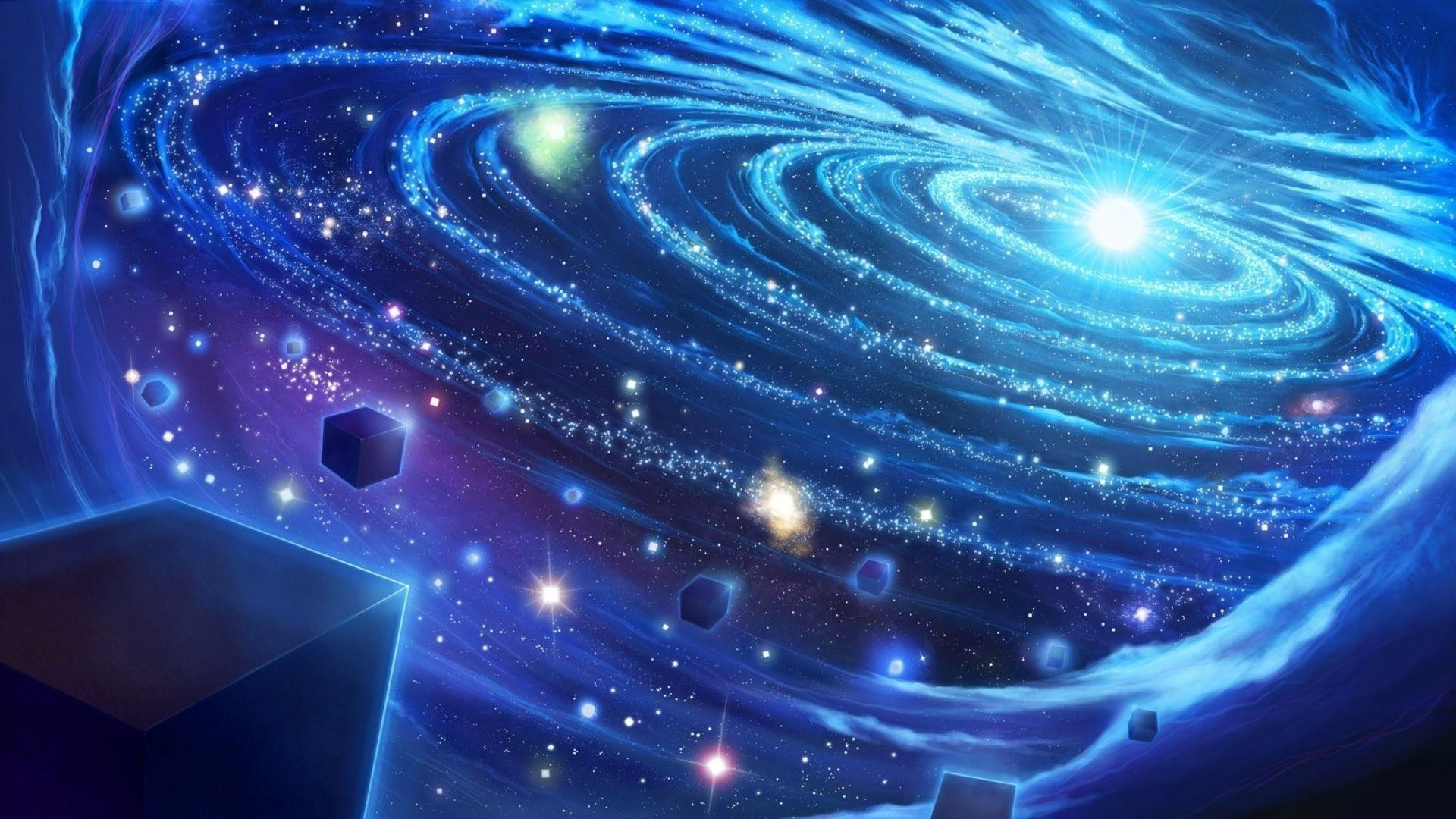 Light in the blue galaxy wallpaper Space wallpapers