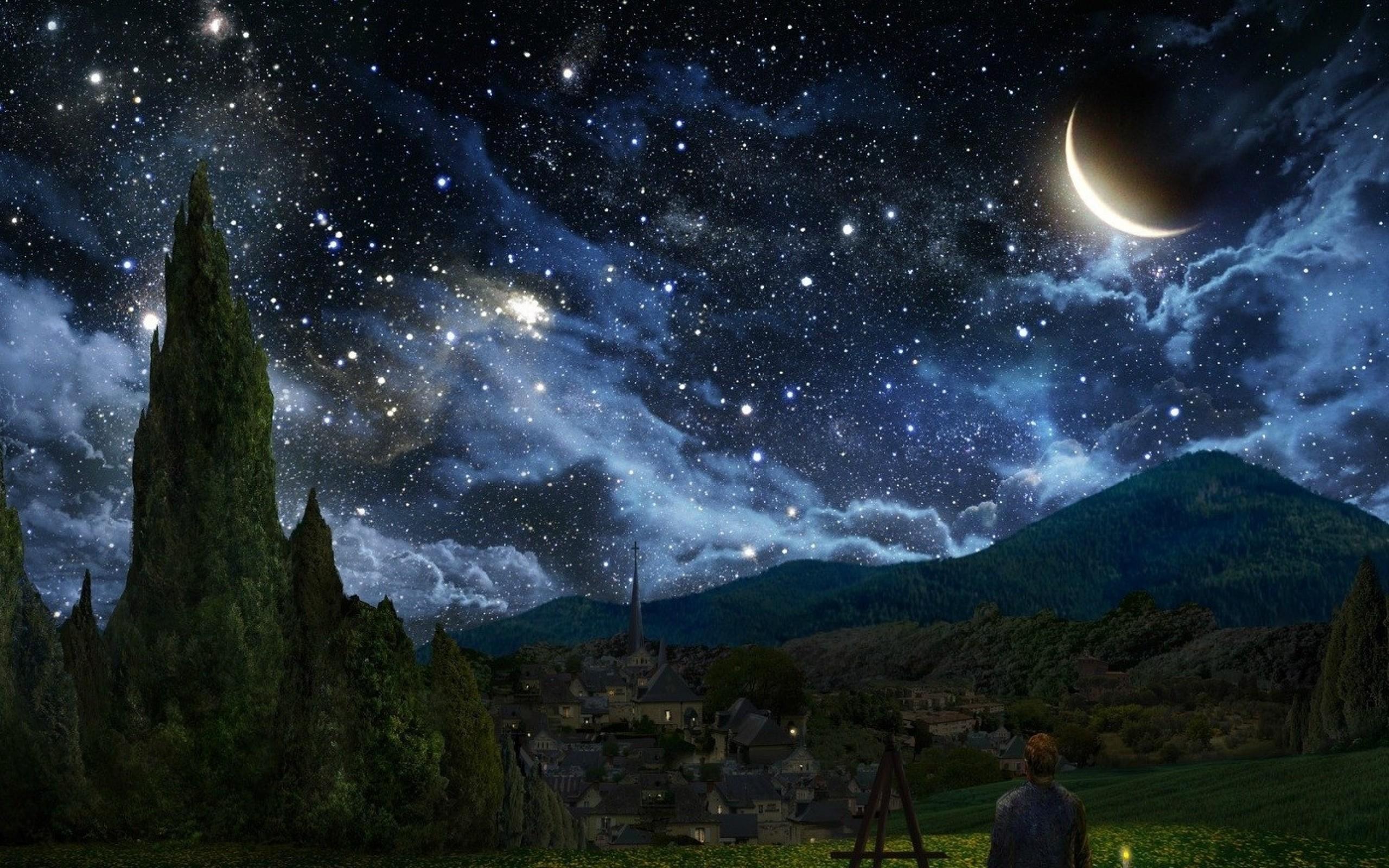 Crescent Moon Wallpaper Free Download.