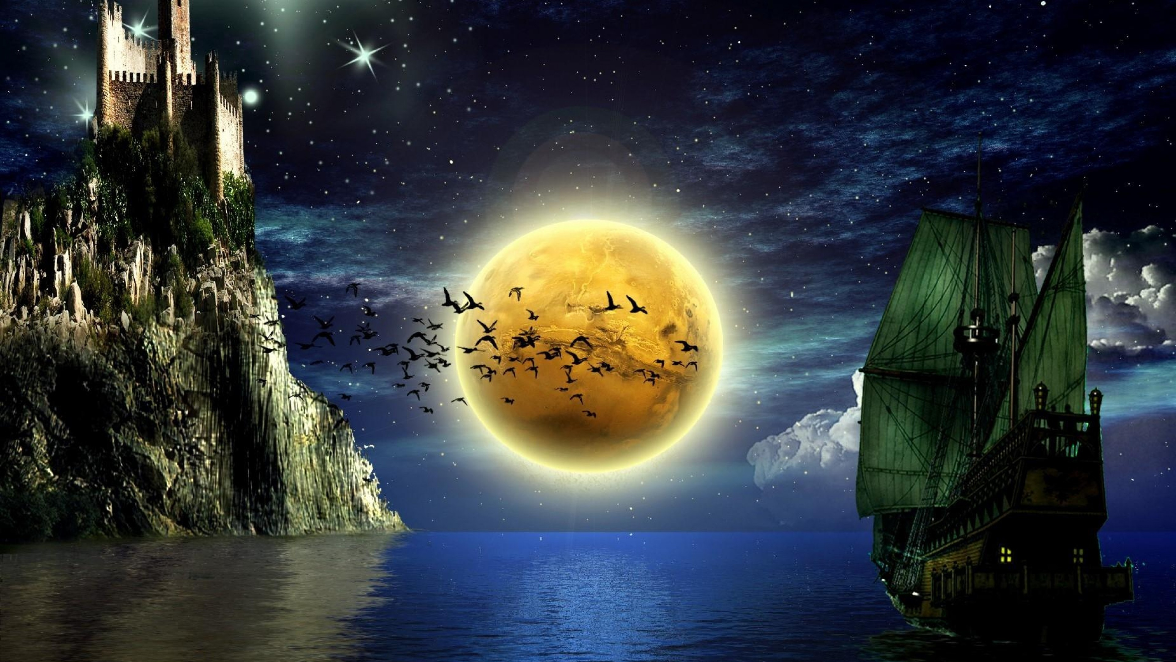 Sun Moon Desktop Wallpapers – HD Wallpapers Backgrounds of Your Choice