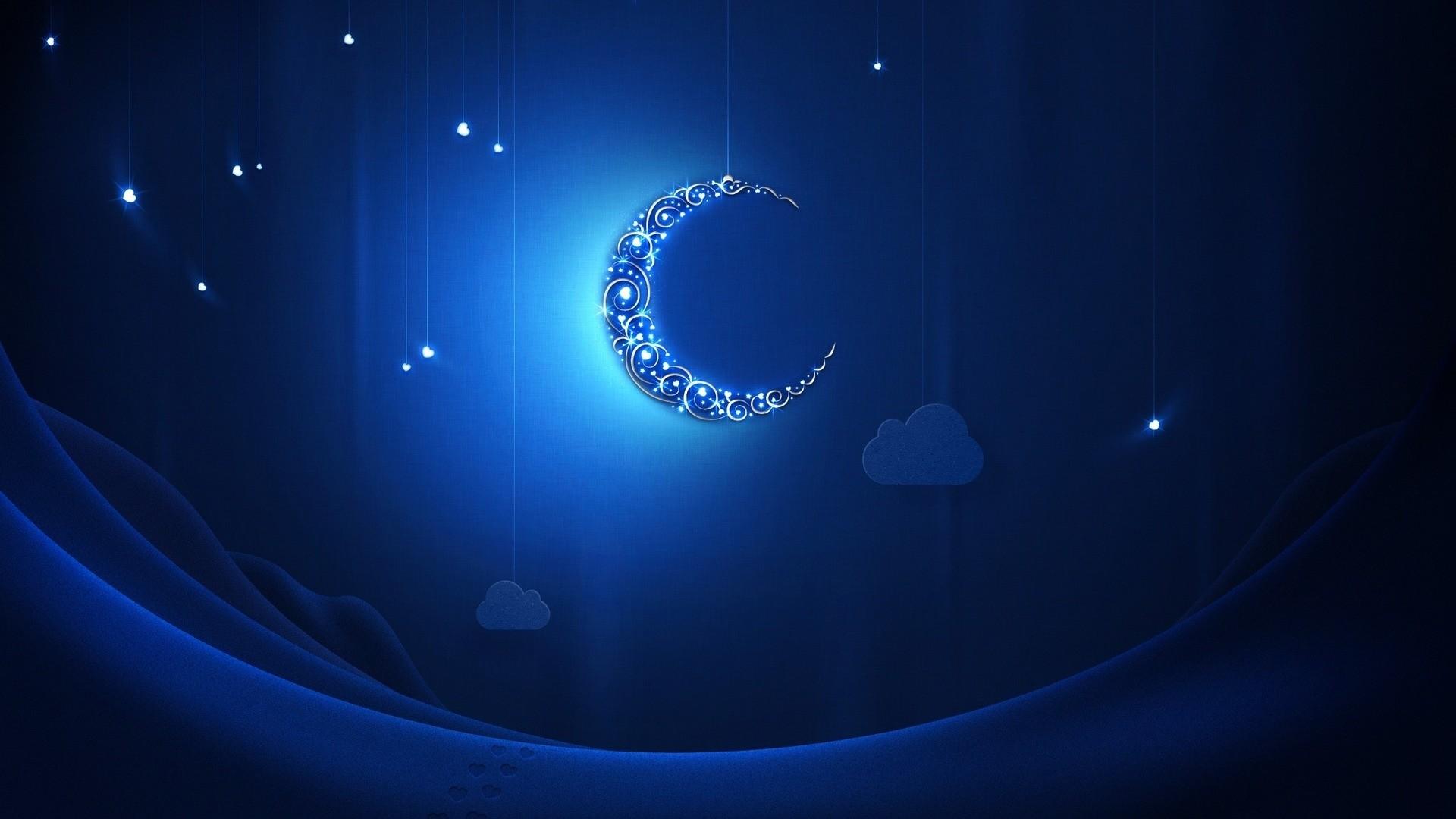 … wallpaper moon stars clouds simple desktop wallpaper 3d …