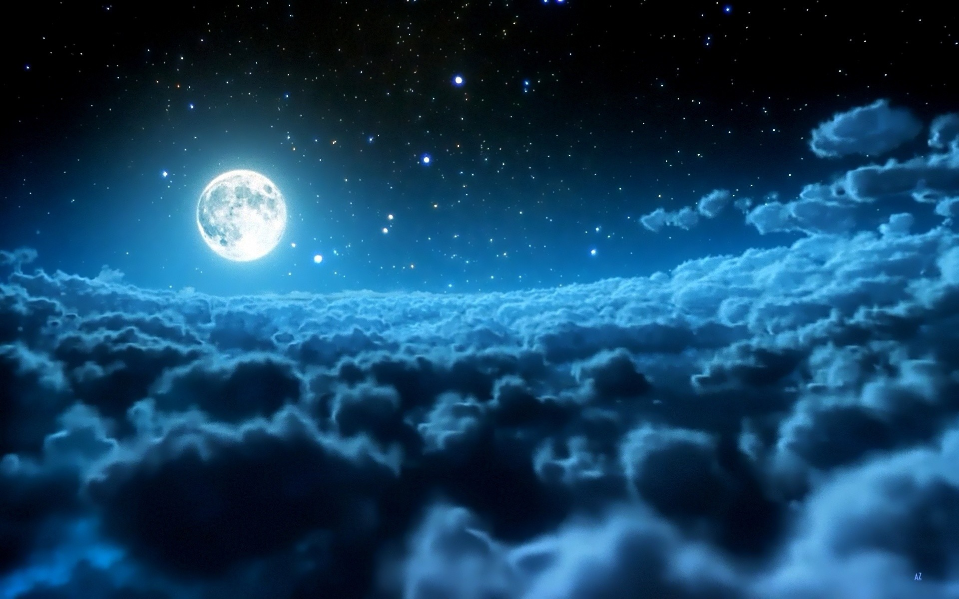 Moon Pictures For Desktop Wallpaper 1920 x 1200 px 692.31 KB iphone iphone  stars crescent blue