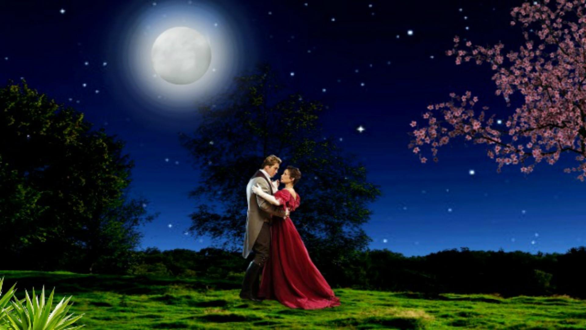 Dancing Tag – Noite Romantic Stars Full Estrelada Moon Starnight Couple  Beautiful Magic Night Dancing Lada