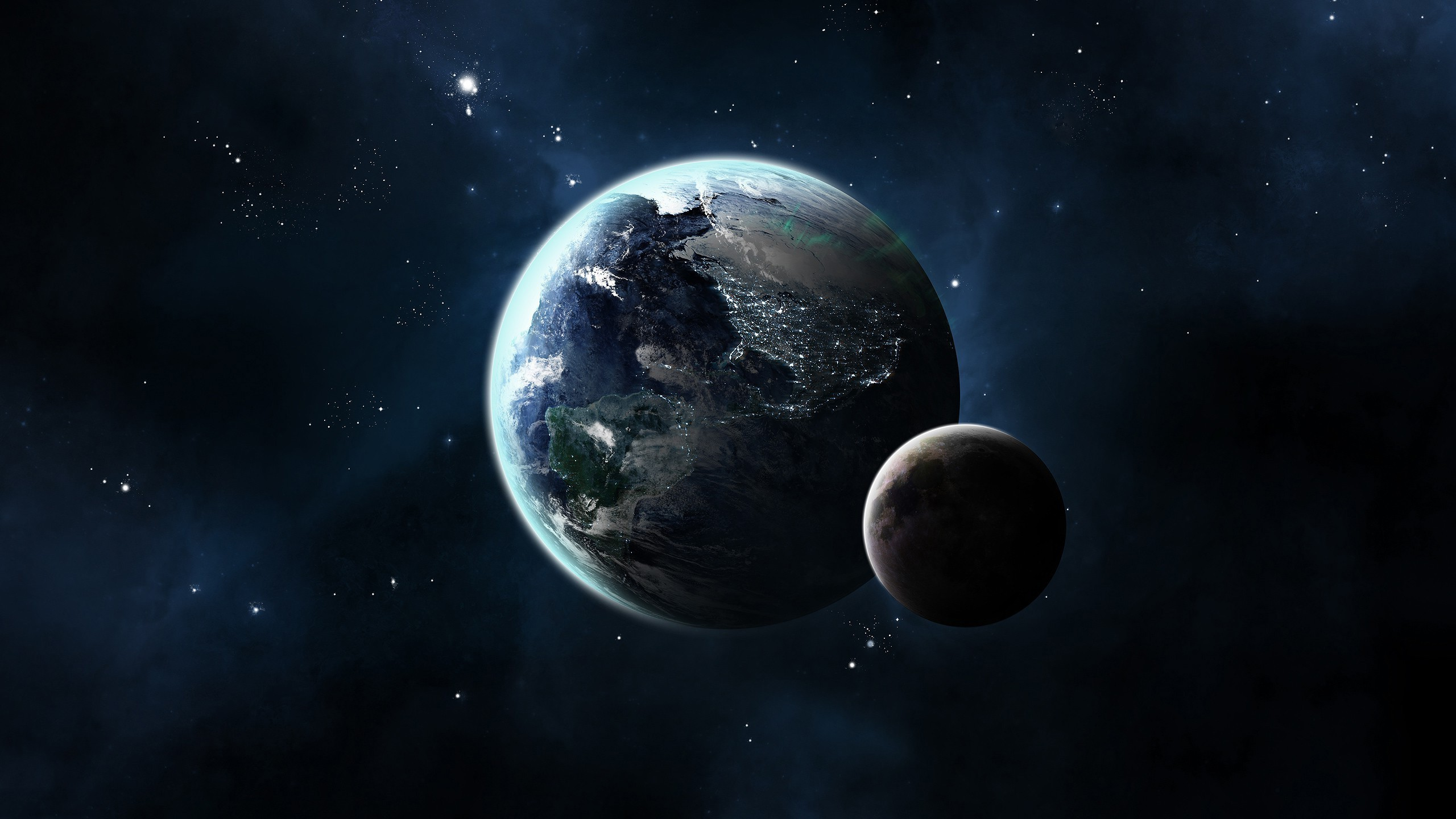 CG Render, Space, Planet, Moon, Stars, Earth Wallpapers HD / Desktop and  Mobile Backgrounds