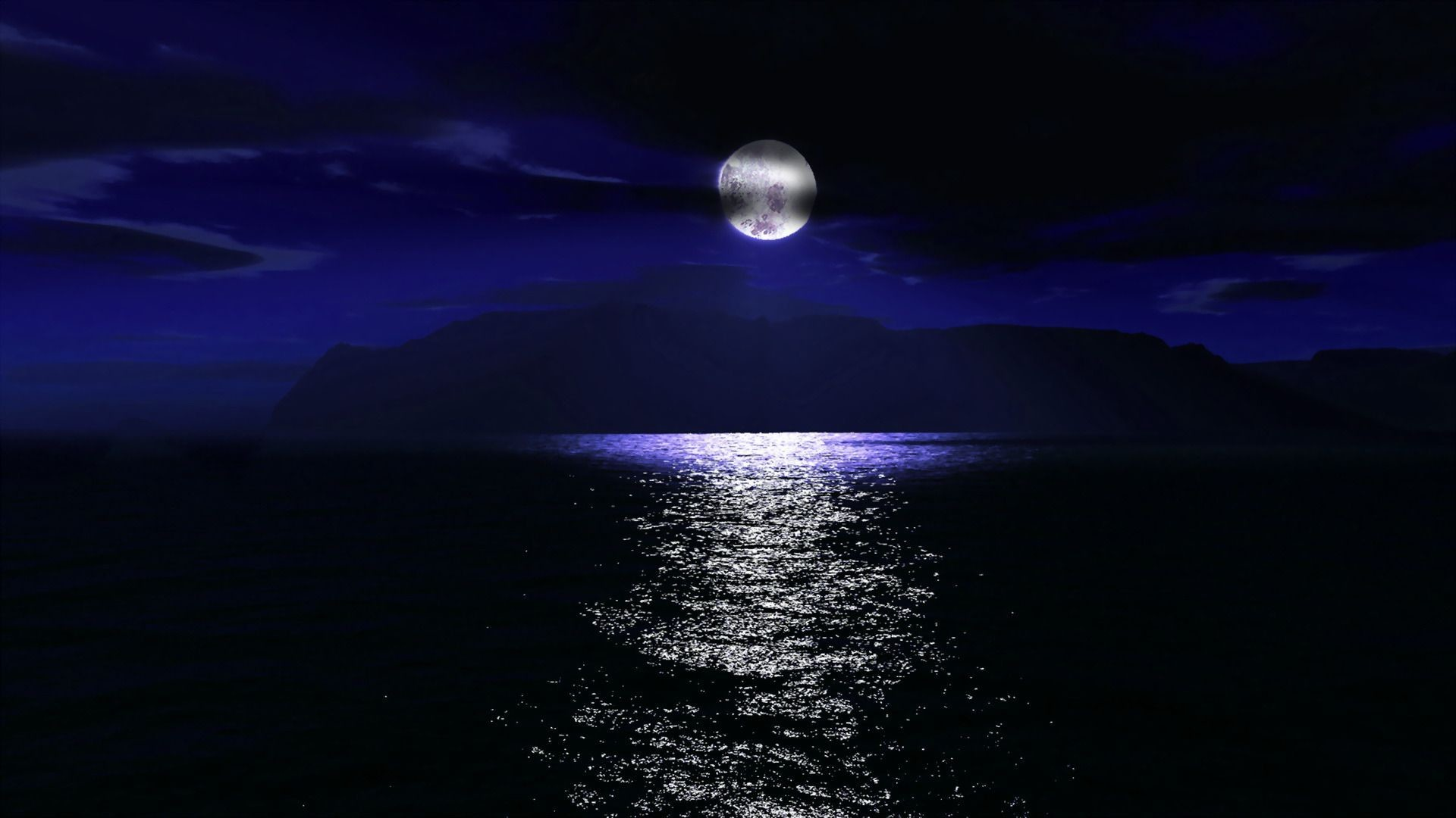 full moon over the sea wallpaper 1084134 night sky moon cloud sea