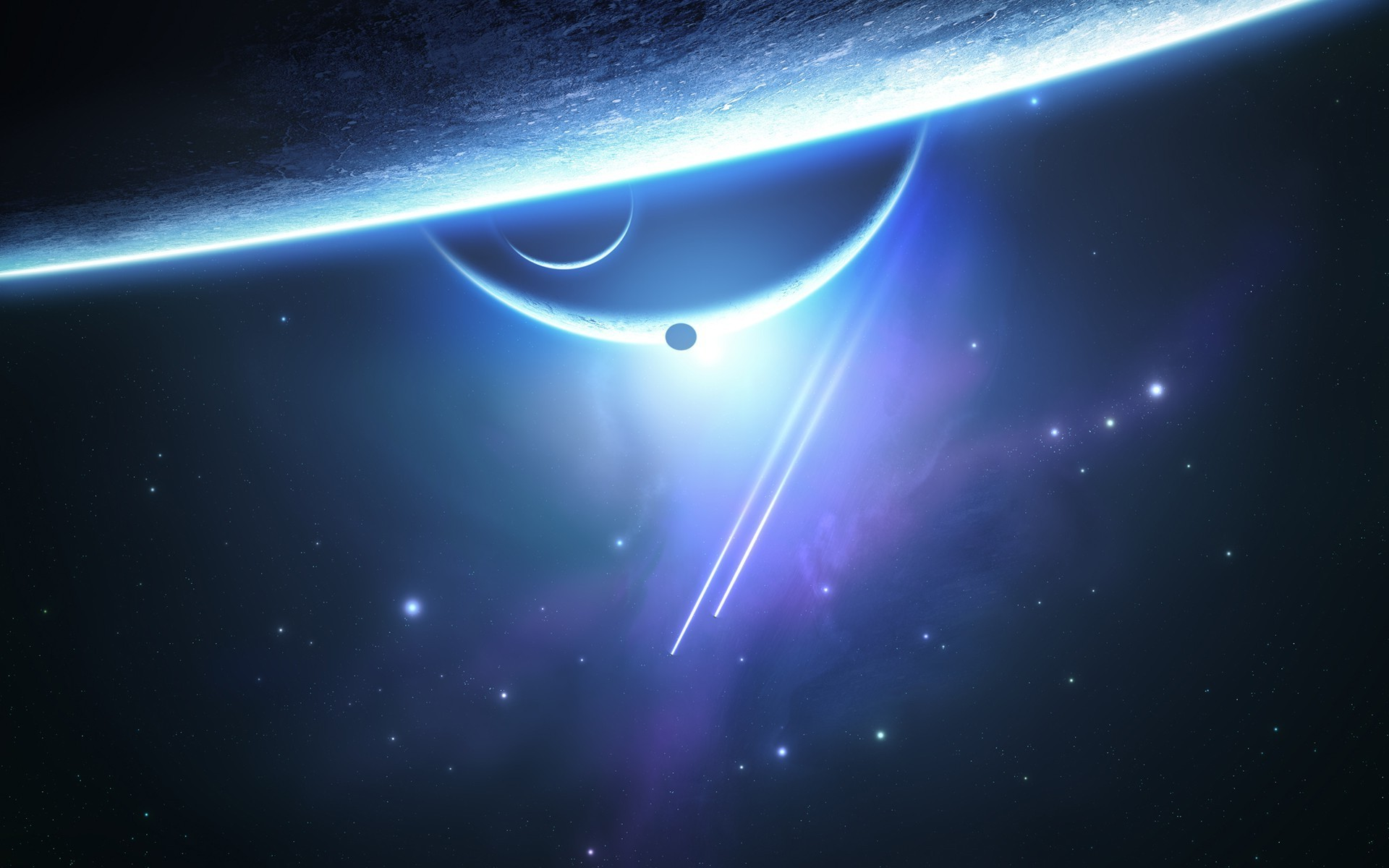 space, Stars, Galaxy, Planet, Moon, Space Art Wallpapers HD / Desktop and  Mobile Backgrounds