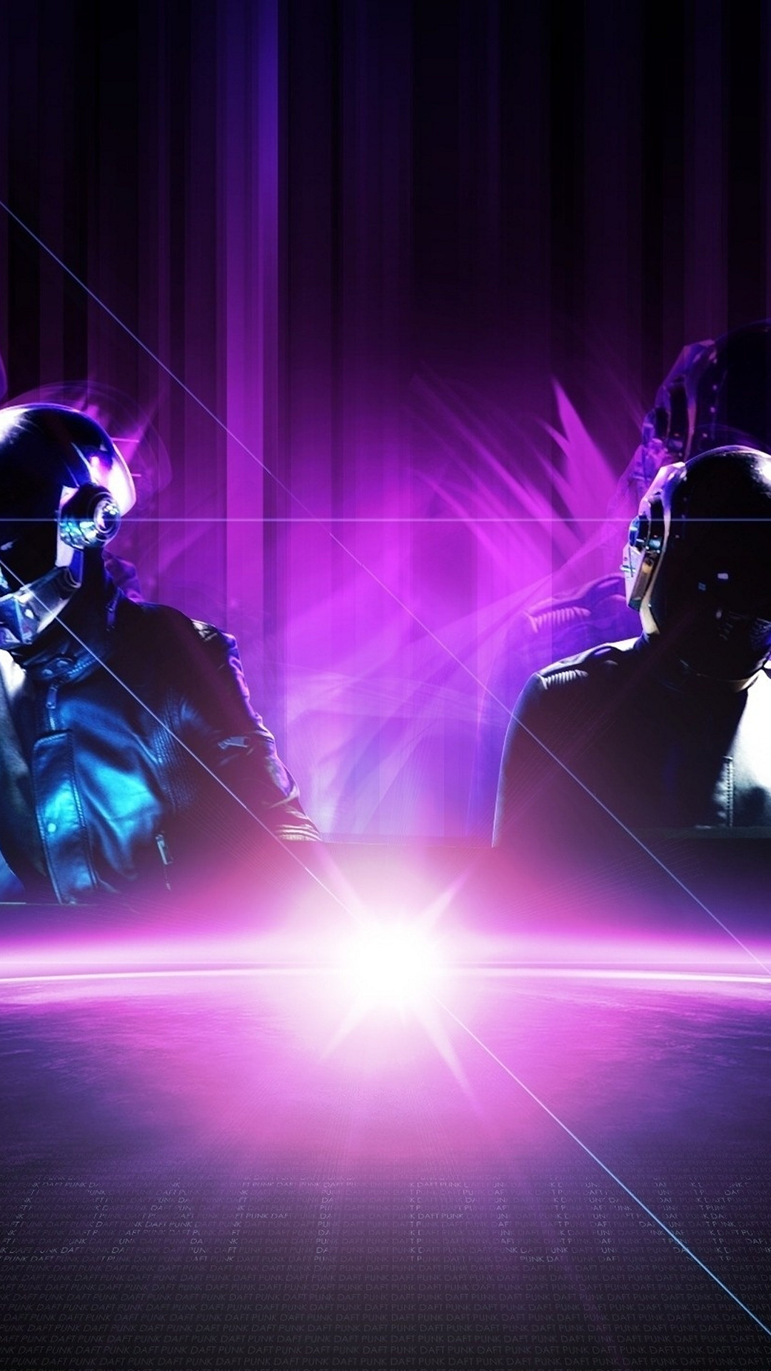 Wallpaper for galaxy s4 with daft punk with purple tone in  resolution