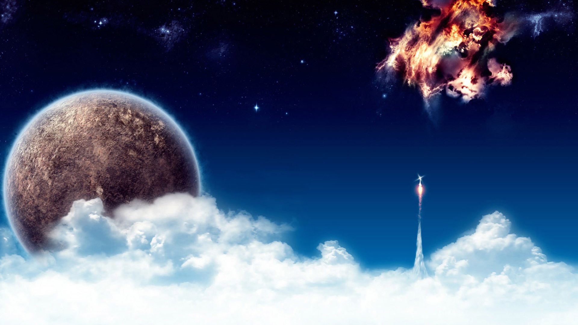 space, wallpaper, screensaver, earth, clouds, wallpapers, throug .