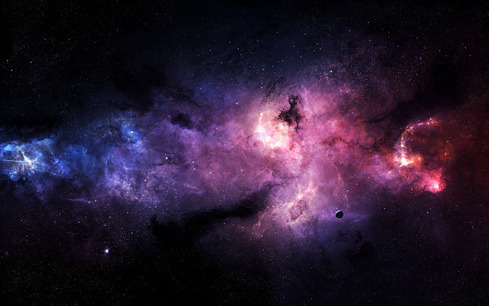 Purple Outer Space Wallpaper 1920×1200 #20809 HD Wallpaper Res .