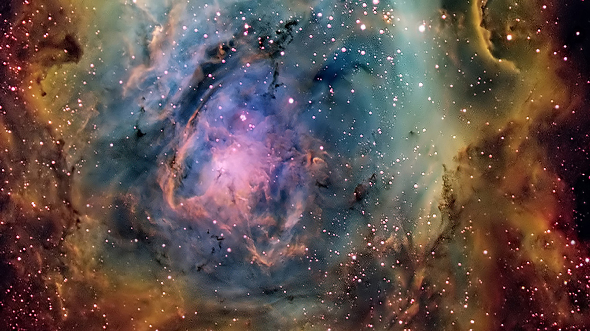 Preview wallpaper strange colorful nebula