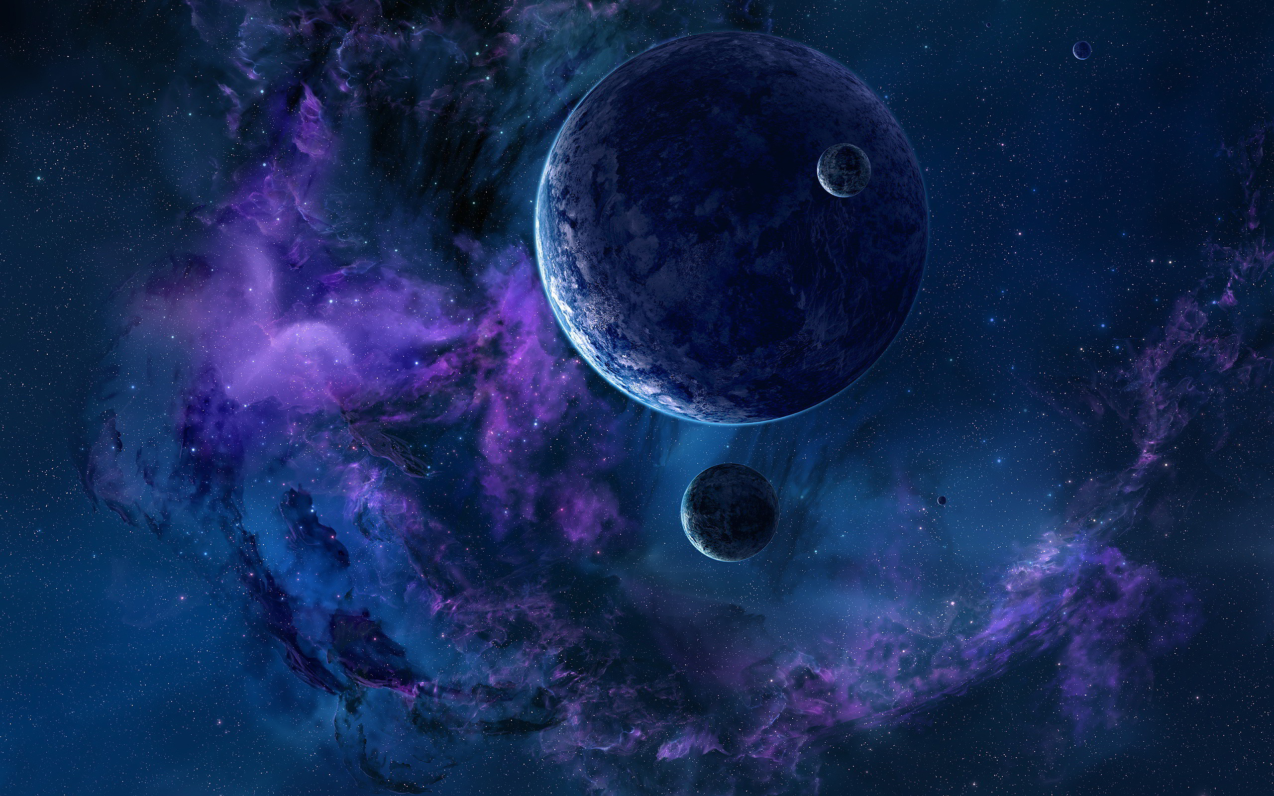 Space Stars And Planets Wallpaper