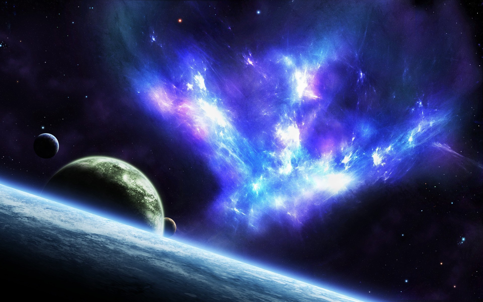 Space stars planets