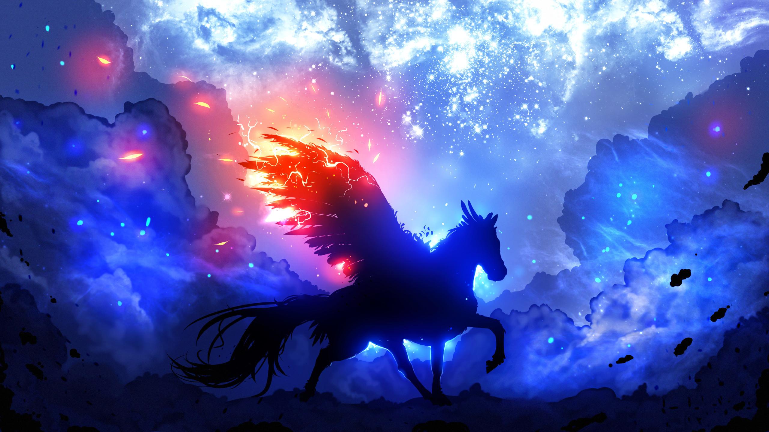 Creative Graphics / Pegasus Wallpaper. Pegasus, Guardian, Space, Stars