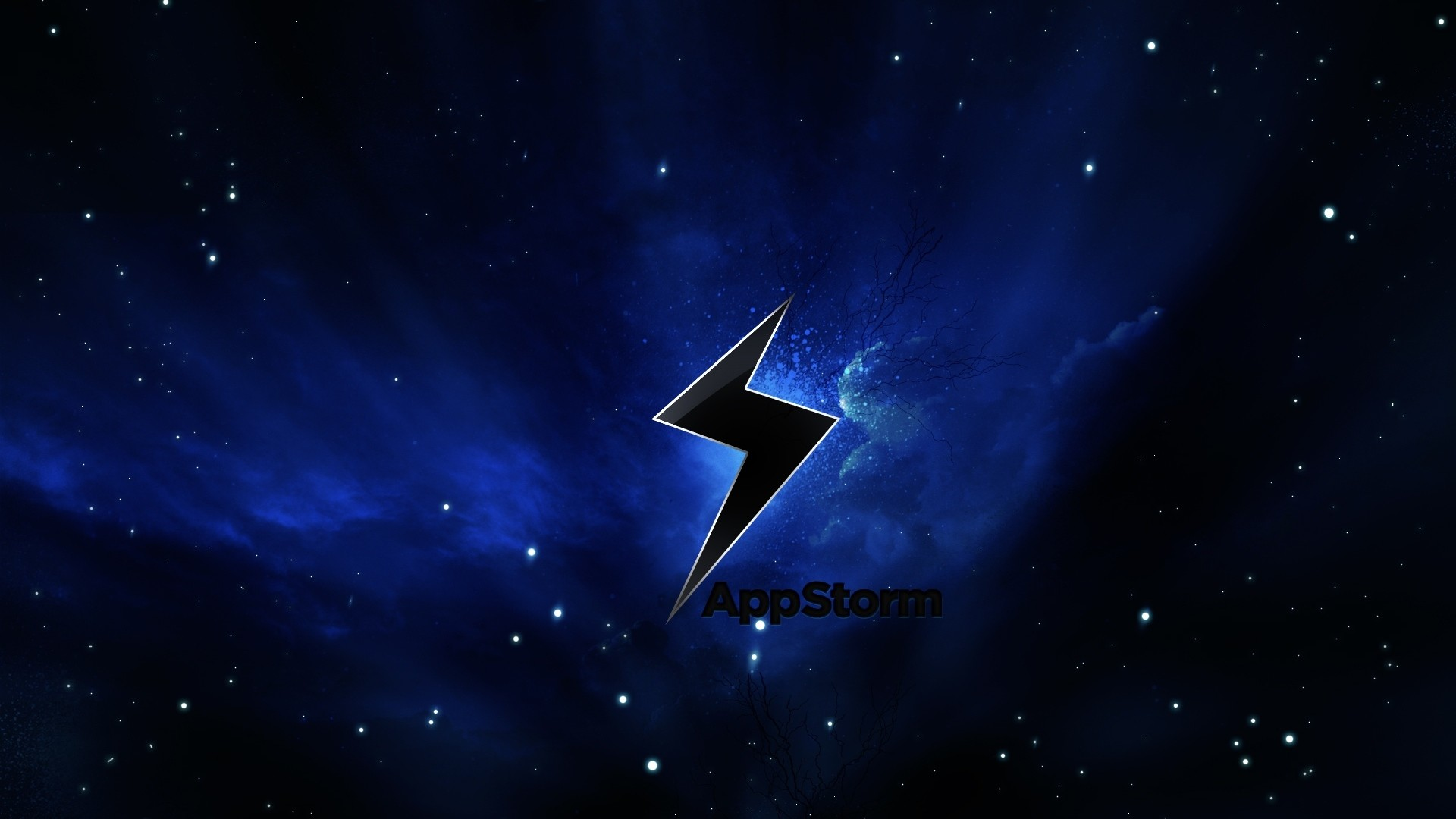 Wallpaper app storm, apple, mac, space, stars, sky, black