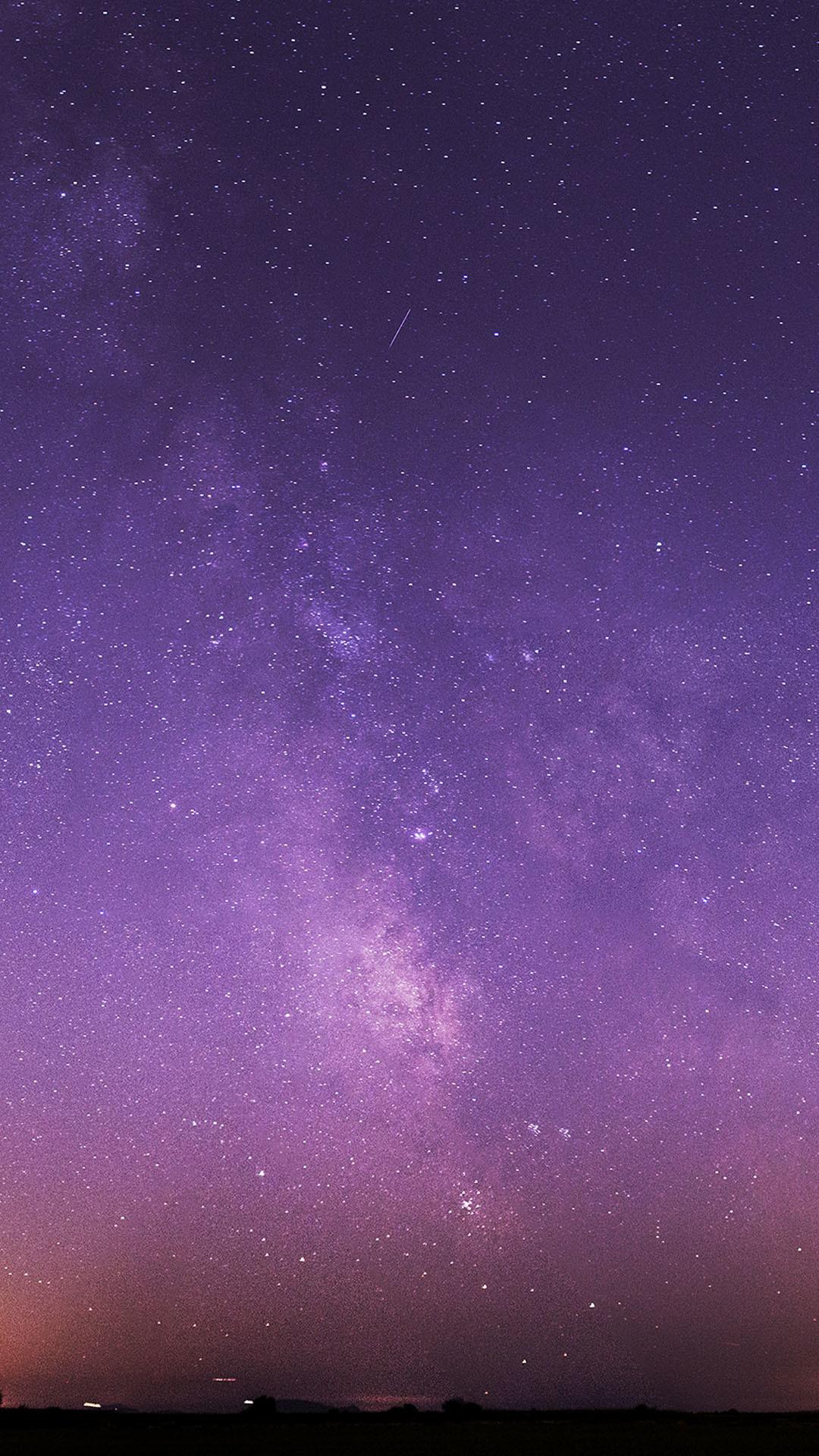 Purple Night Sky Stars Milky Way Android Wallpaper …