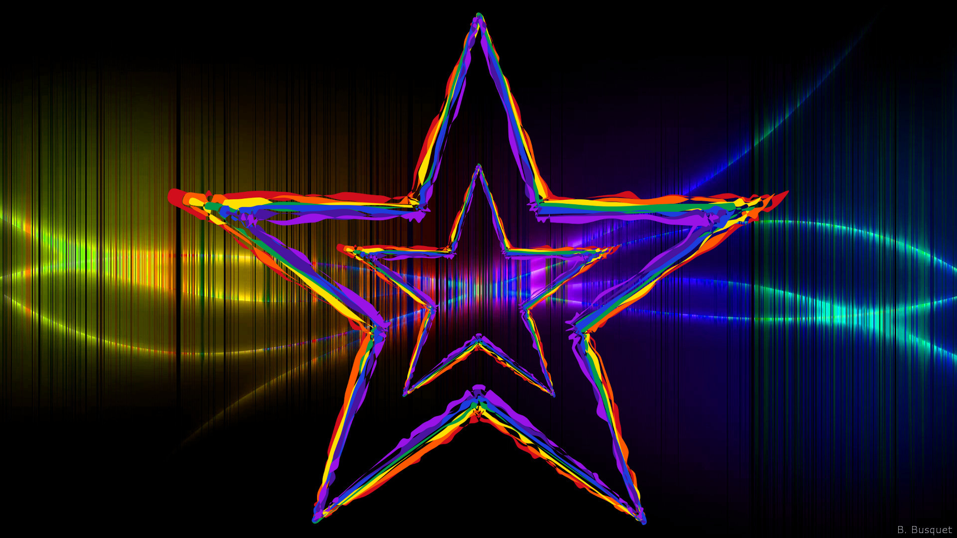 HD wallpaper with a small star in a big star.