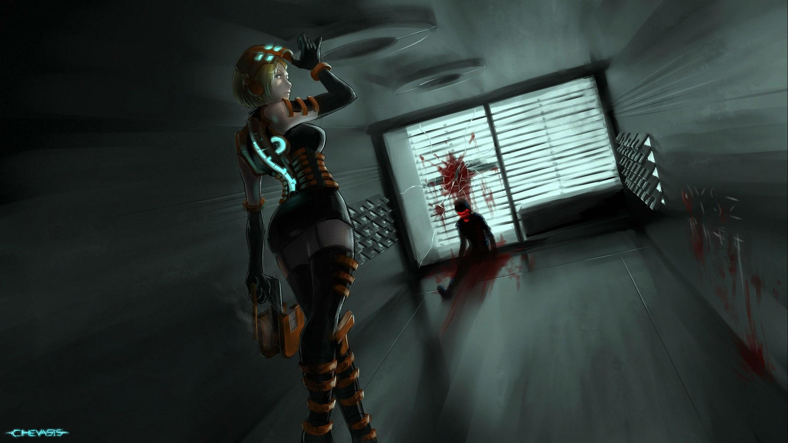 DEAD SPACE sci-fi shooter action futuristic 1deads warrior cyborg robot alien  aliens artwork deadspace fighting wallpaper     740426    WallpaperUP