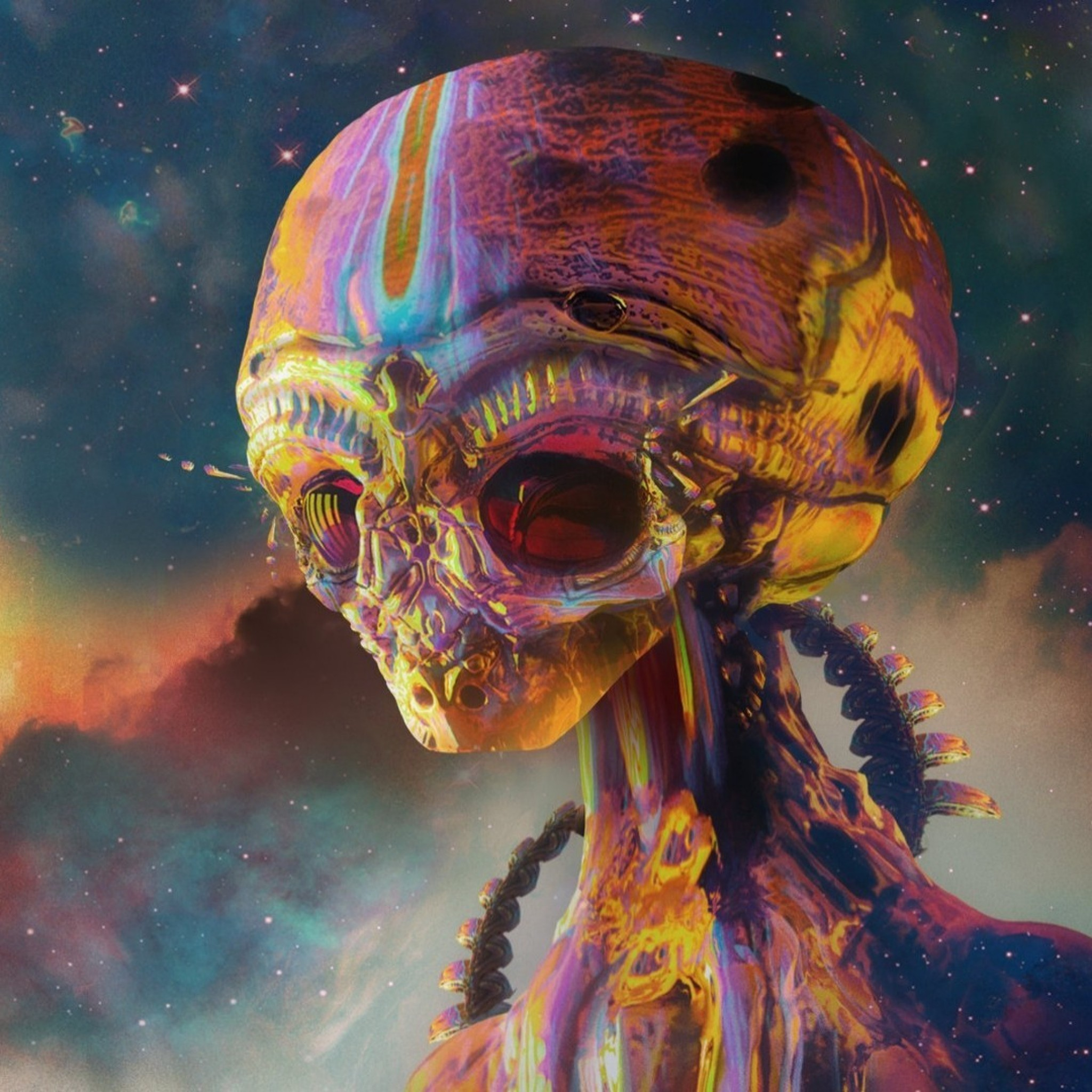 Preview wallpaper alien, art, colorful 2048×2048