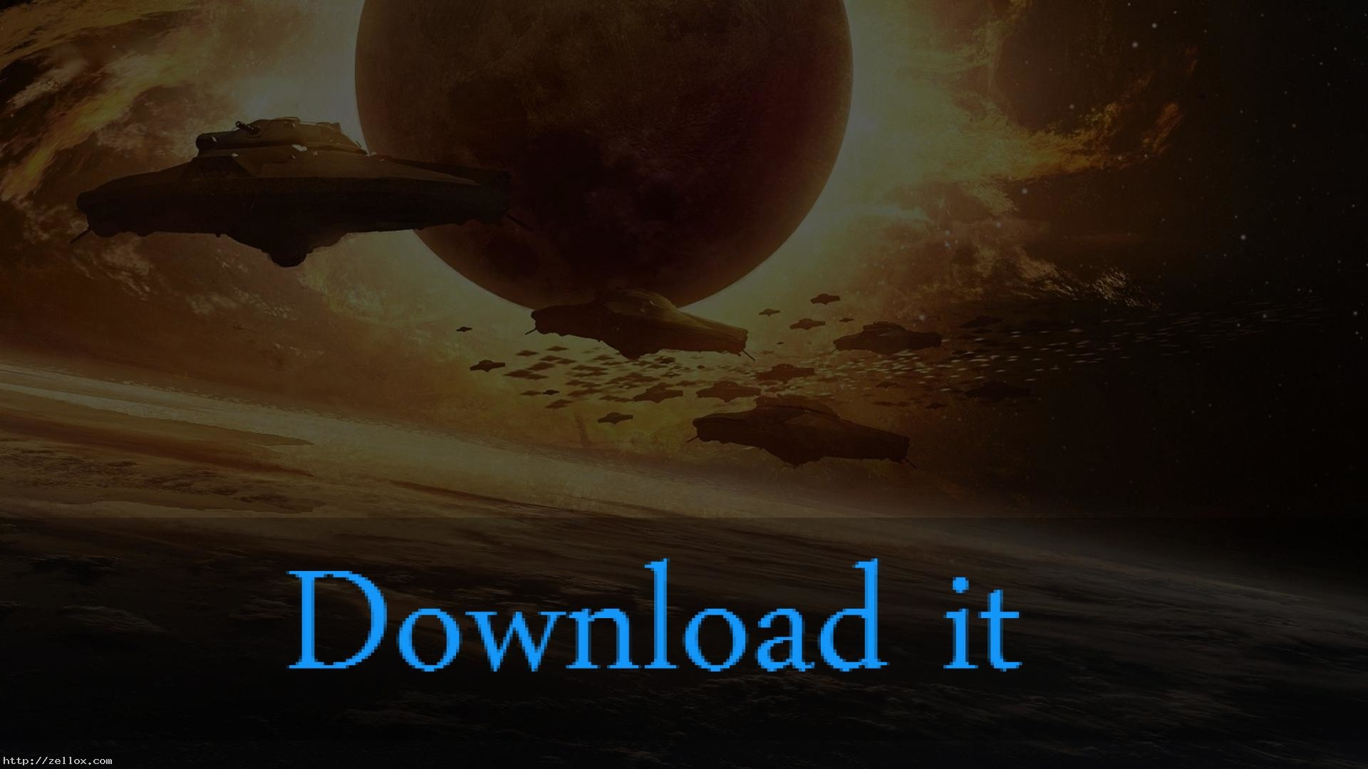 Alien Spaceship Earth Wallpaper