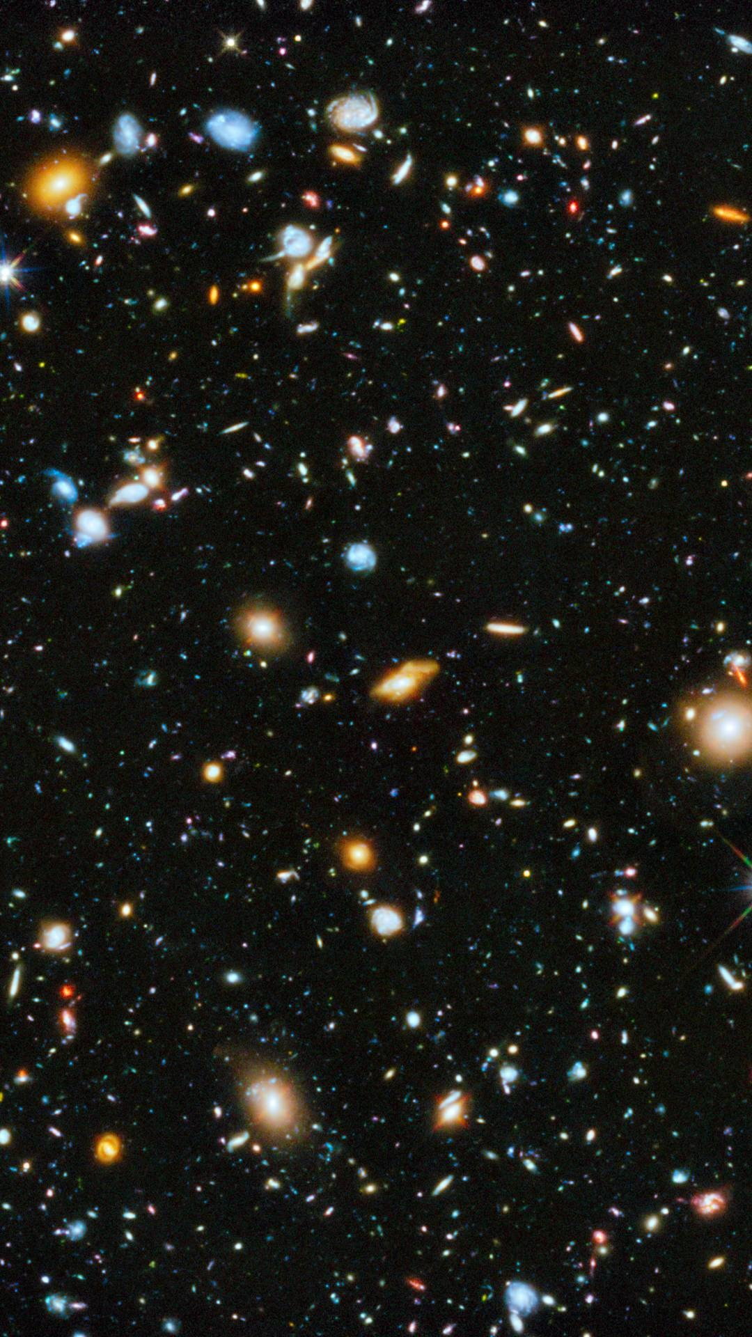 Hubble Ultra Deep Field Wallpaper (iPhone-6-Plus)