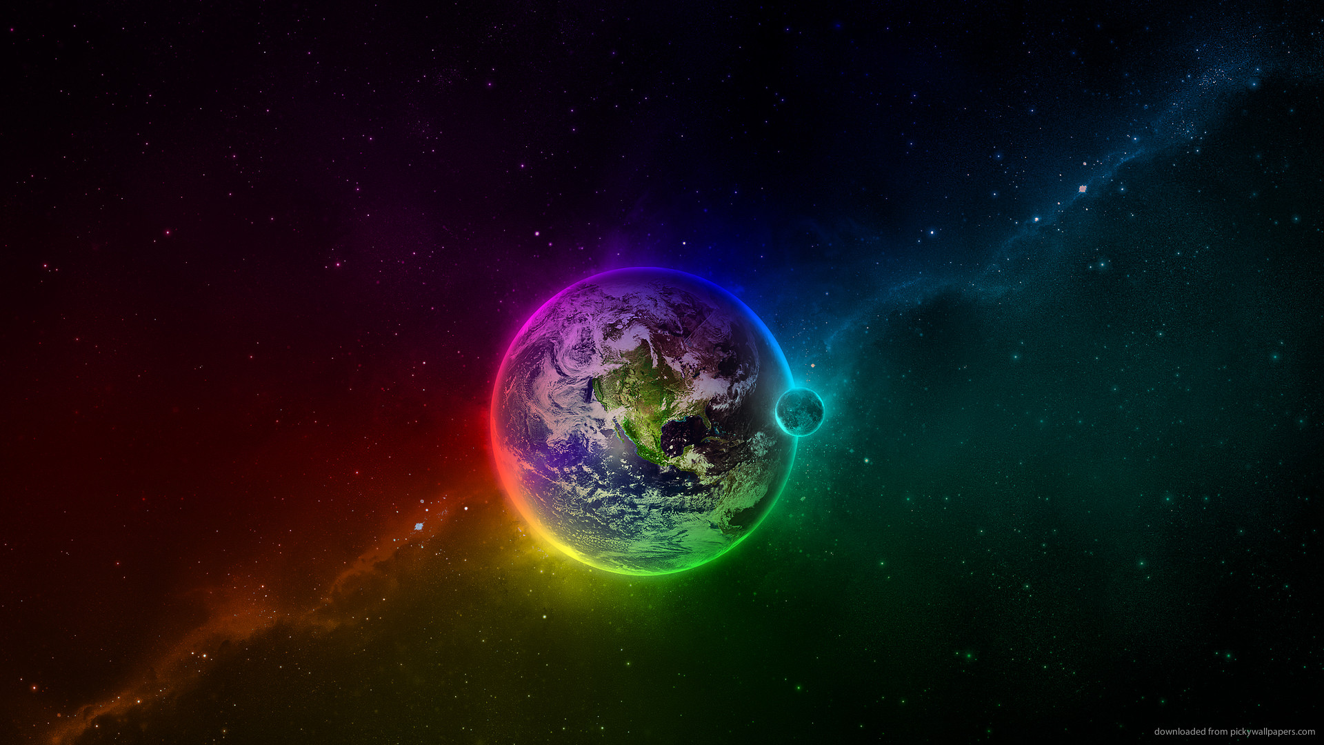 Rainbow Earth picture