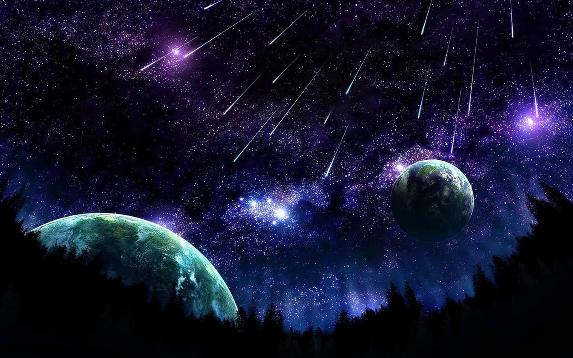 Free desktop wallpapers and backgrounds with meteor shower, cosmos, planet,  space, universe. Wallpapers no.