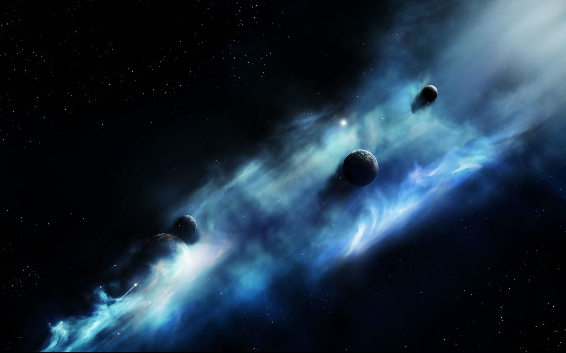 Blue Space Clouds Wallpapers | Pictures