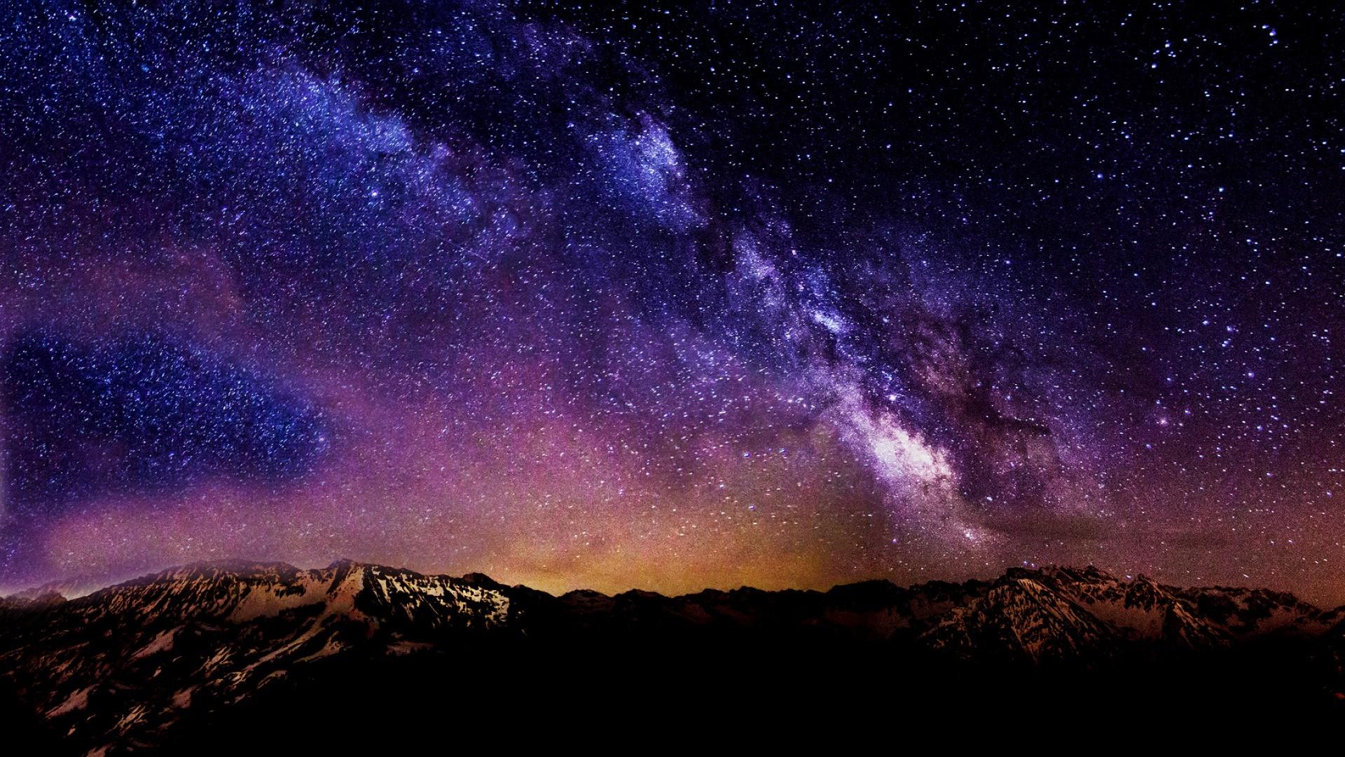 Starry Night Sky Desktop Wallpaper. Night Sky Background Wallpapers | WIN10  THEMES