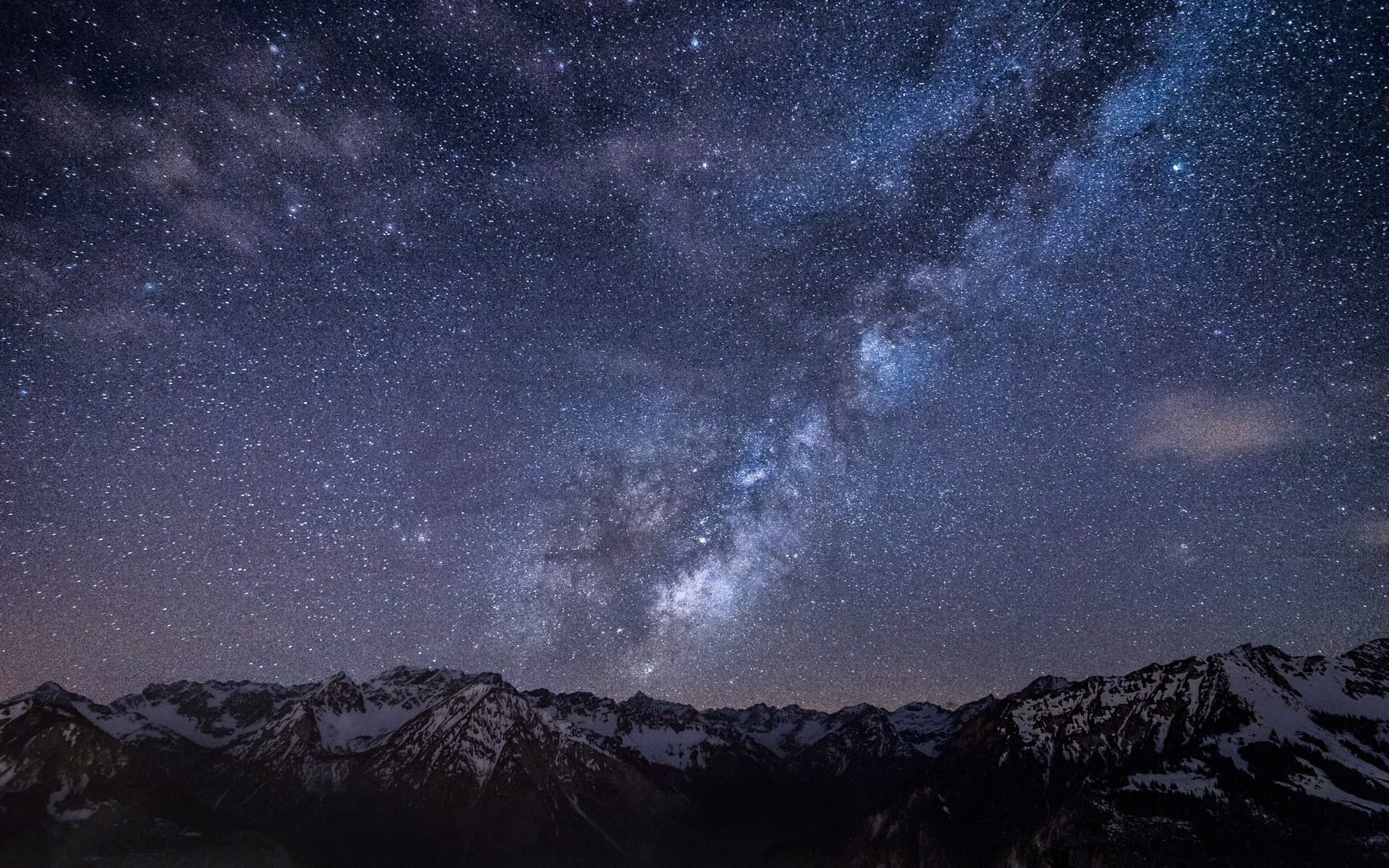 Starry sky above the mountains wallpaper, Starry sky above the mountains  Nature HD desktop wallpaper