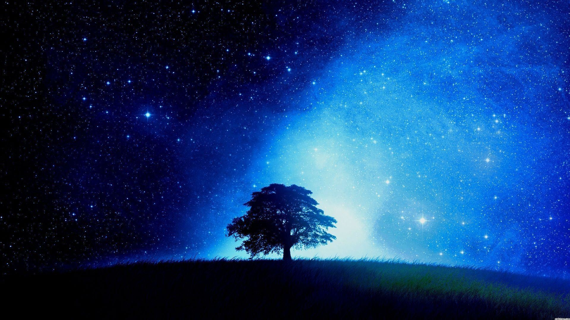 Starry Night Sky Wallpaper 30952 Wallpapers HD | Hdpictureimages.