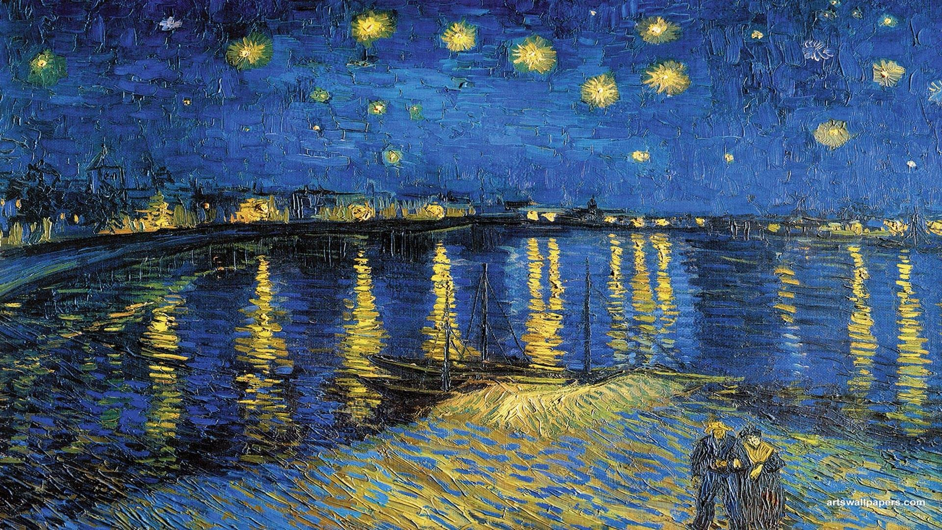 … starry night over the rhone iphone wallpaper image gallery hcpr …