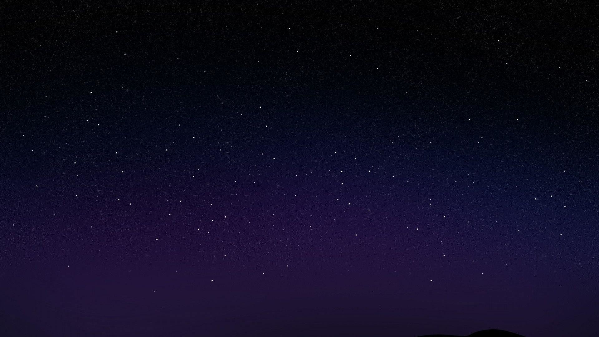 Starry Night Sky desktop PC and Mac wallpaper