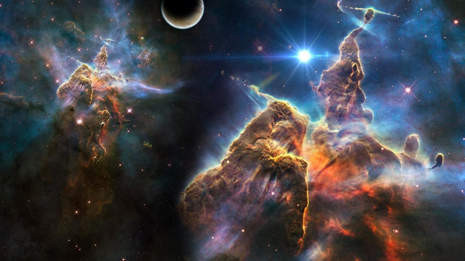 universe, stars, galaxies; universe, stars, planets