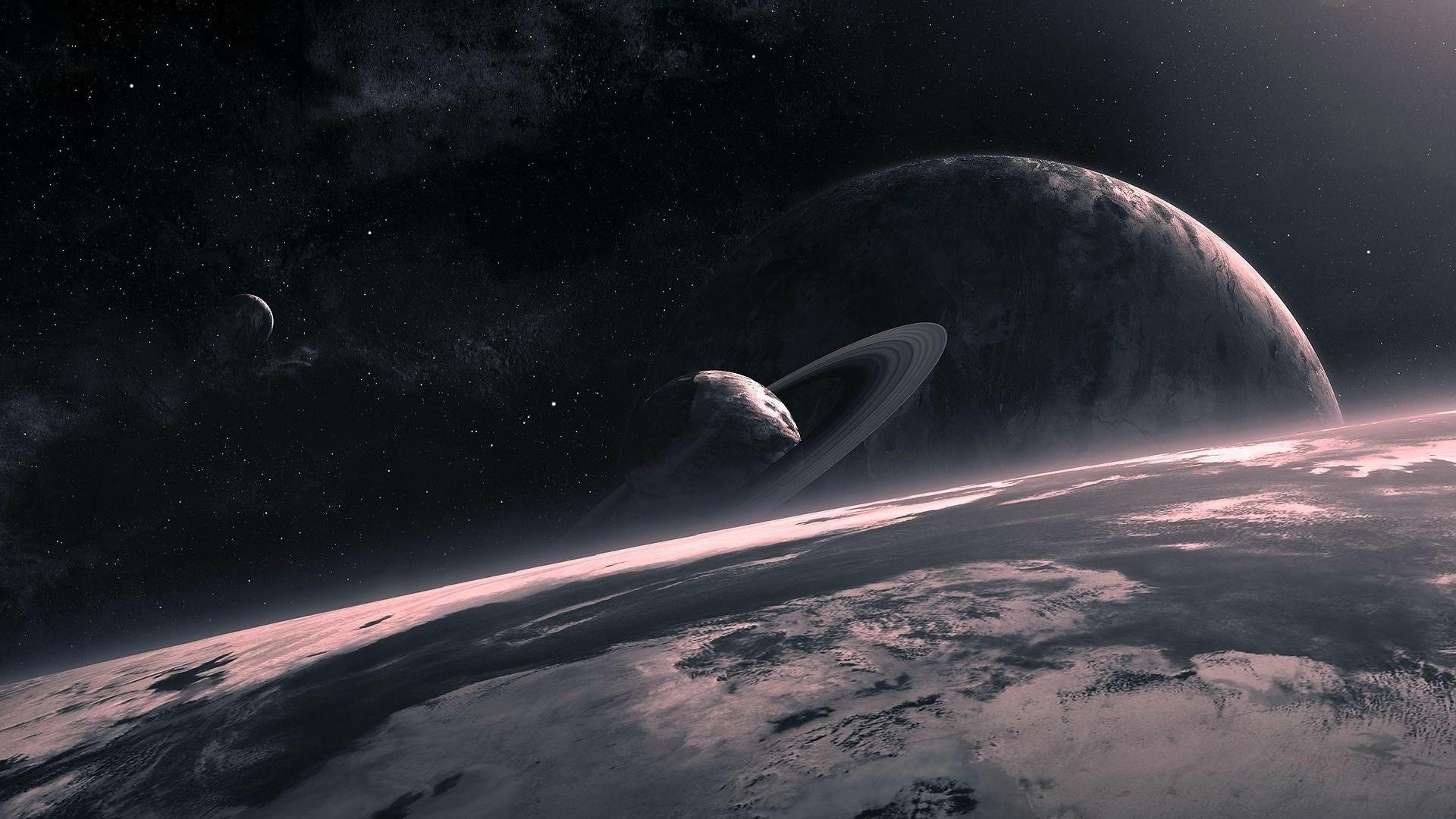 Preview wallpaper universe, planet, circle, star 1920×1080