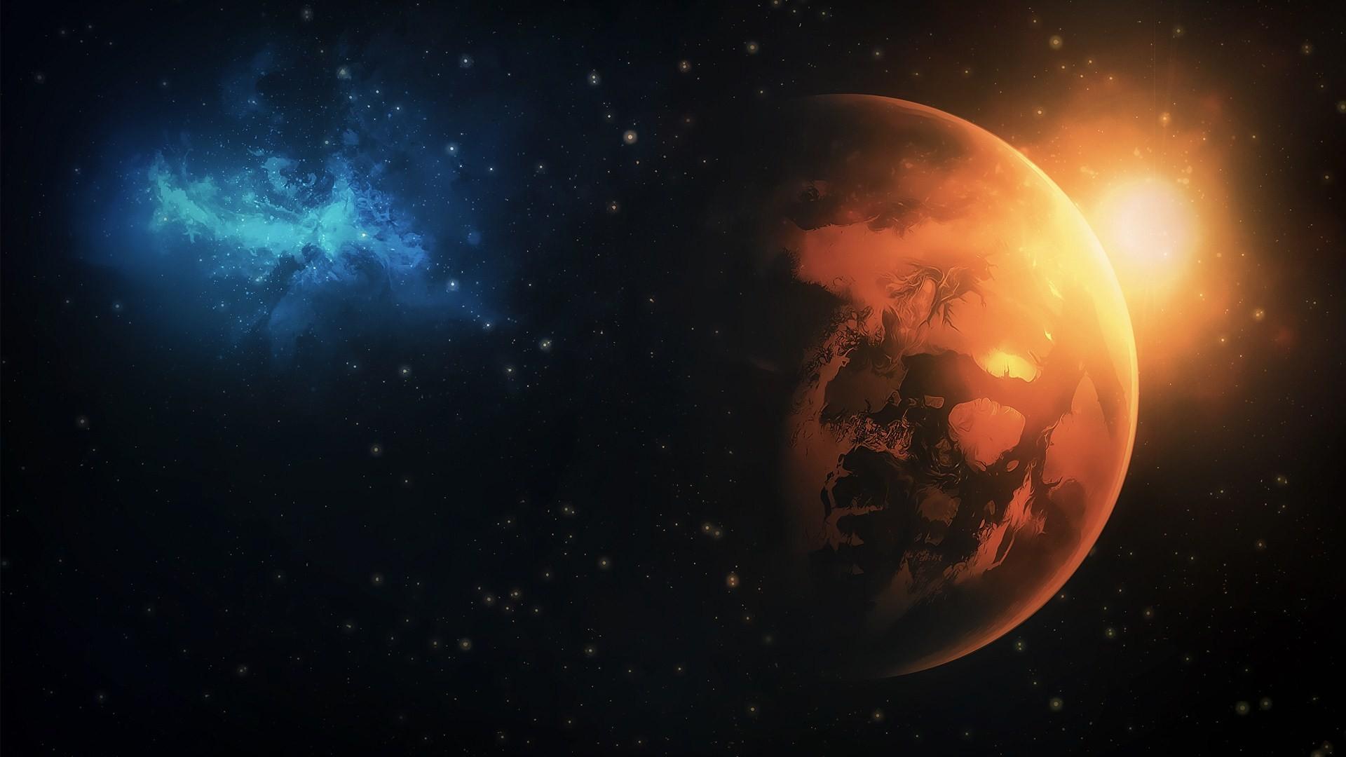 Space Universe Planets Stars Nebula HD Wallpaper