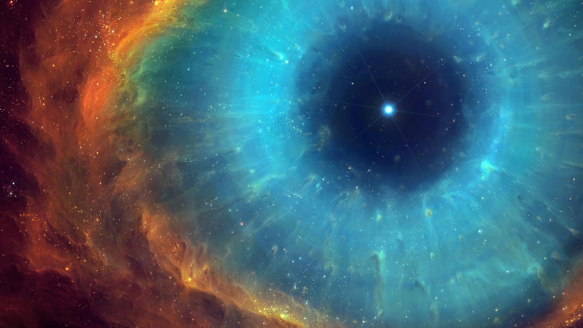 Wallpaper art, space, nebula, star, energy