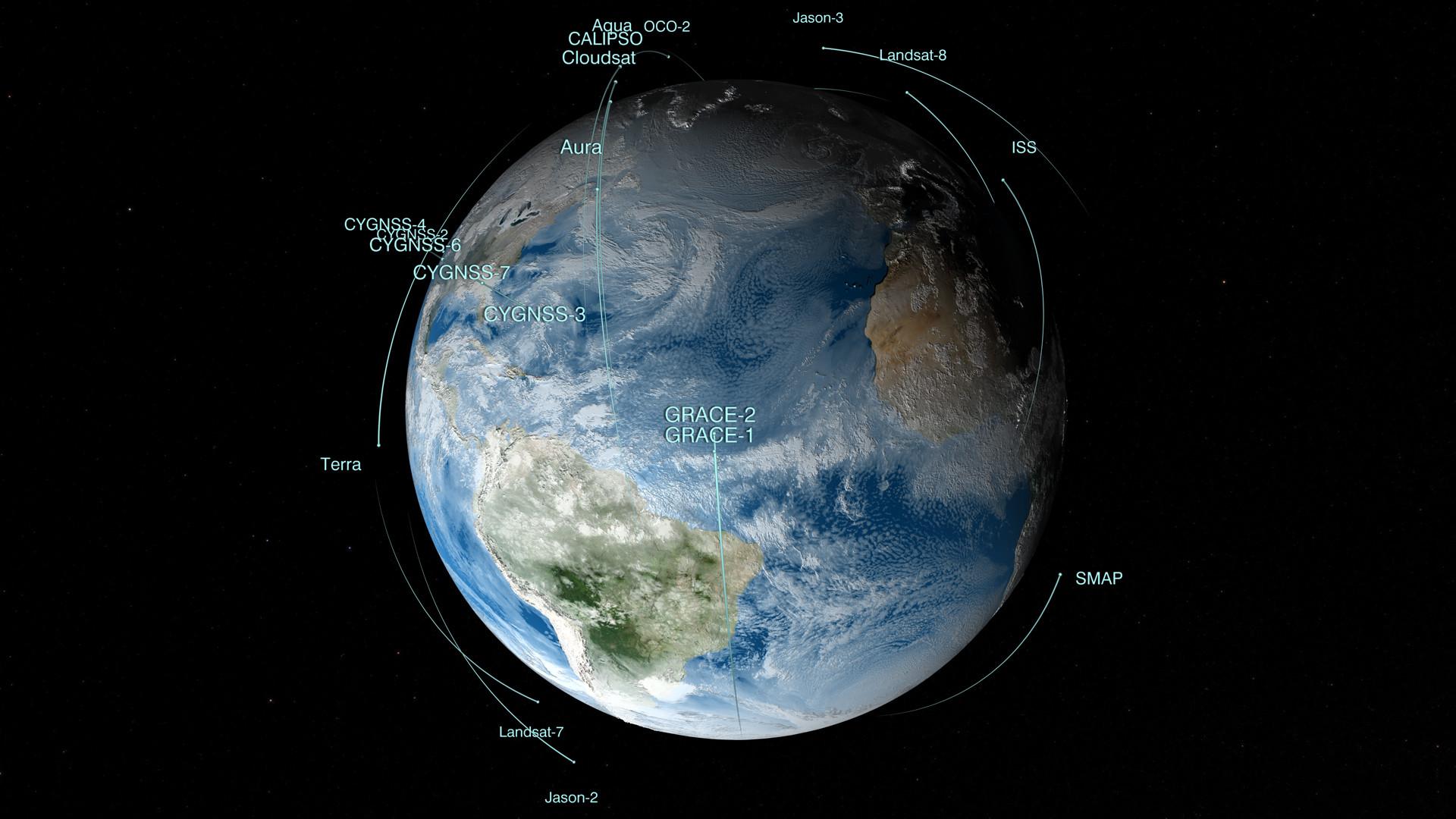 NASA's Fleet of Satellites Keep an Eye on Earth