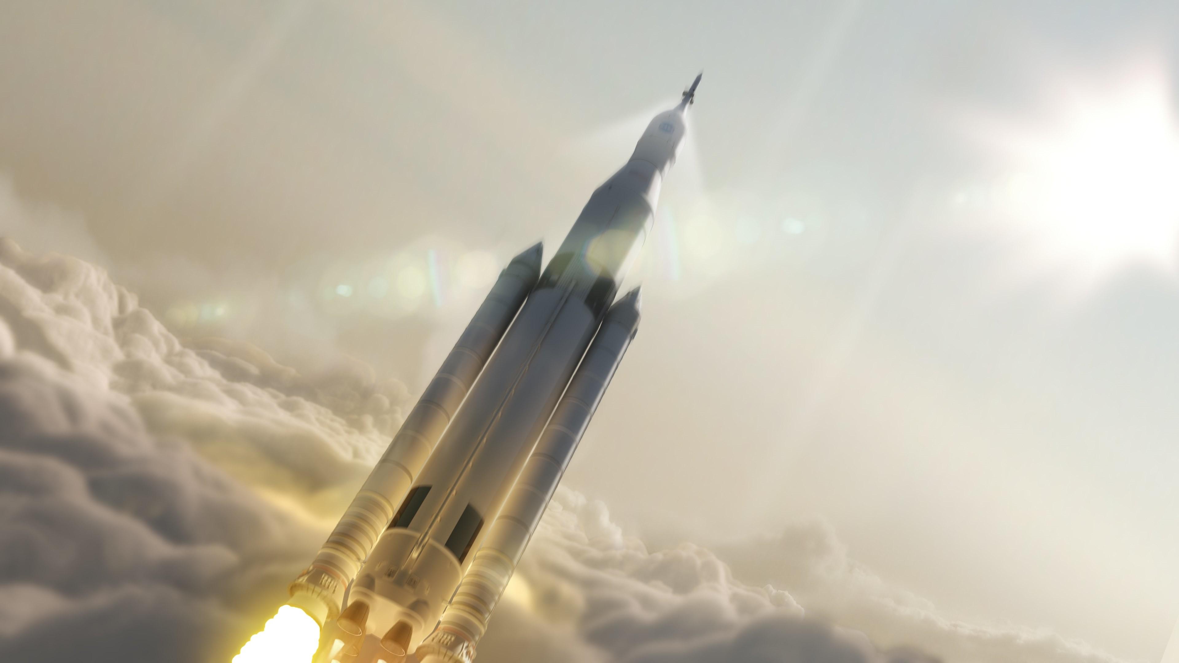 4K HD Wallpaper: NASA Space Launch System