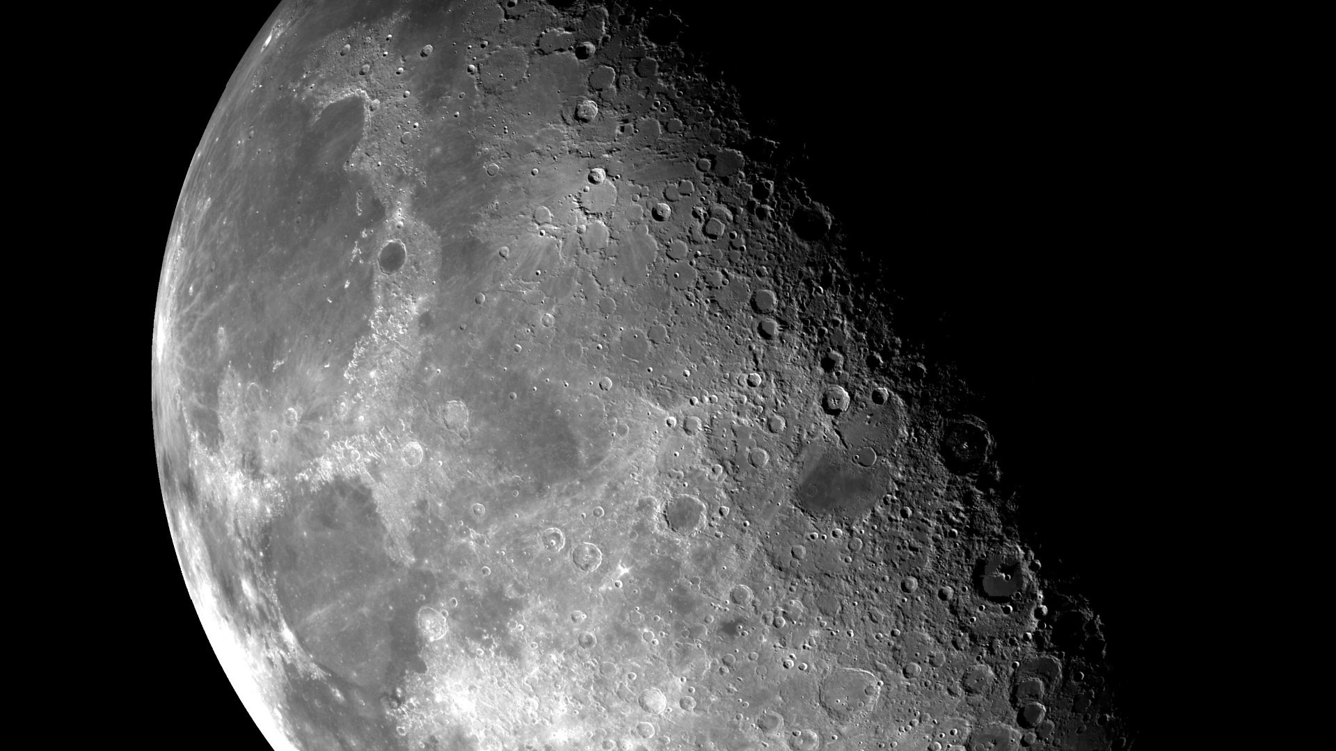 HD Wallpaper: Our Moon through NASA's eyes