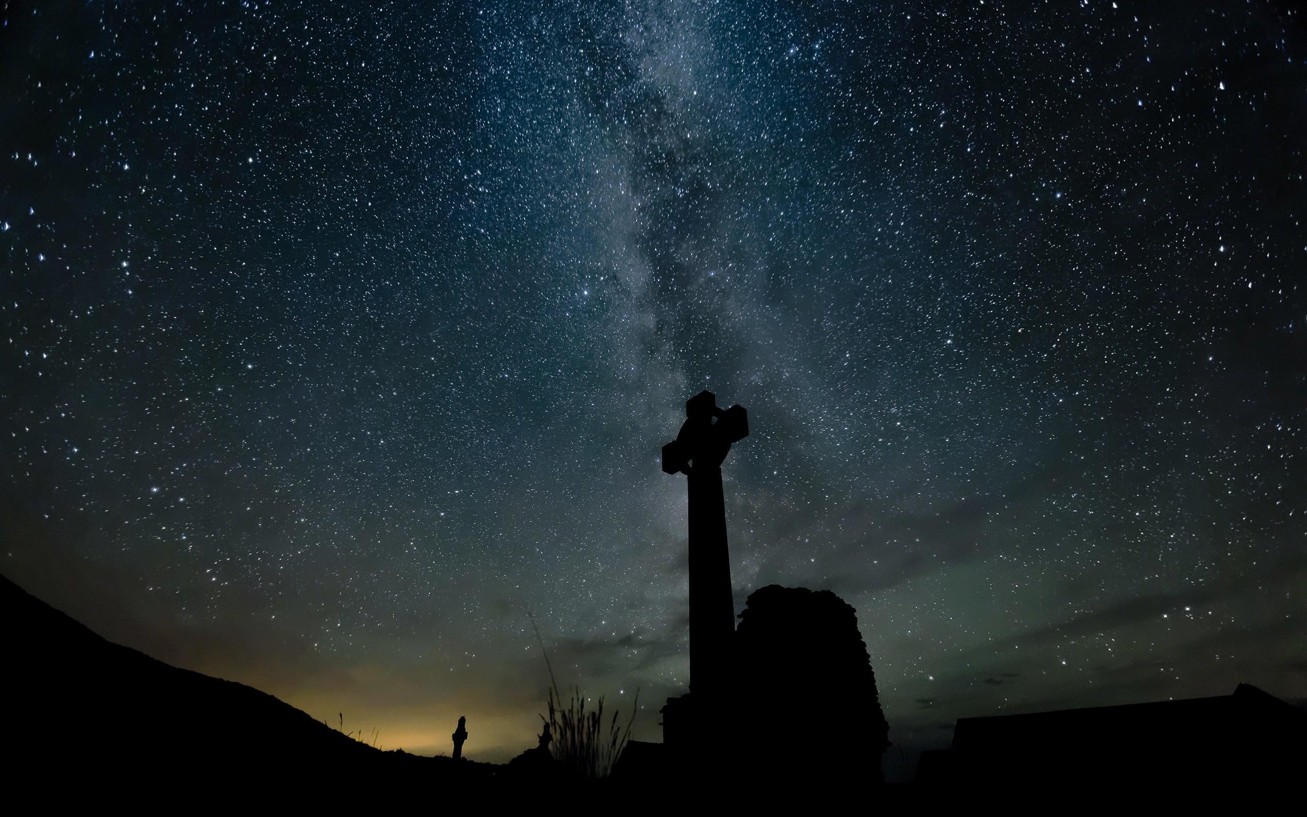 Stars Night Cross Galaxy Milky Way wallpaper | | 248055 .