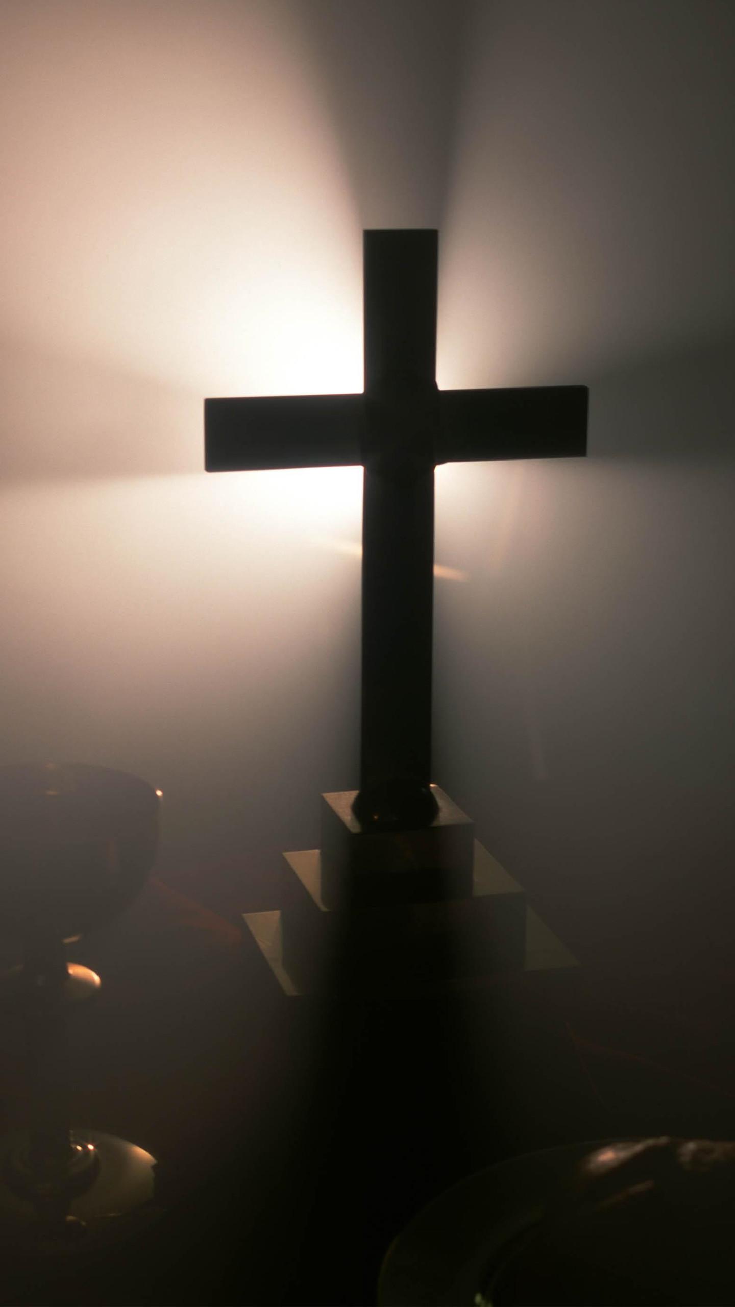 Cross In The Fog Wallpaper