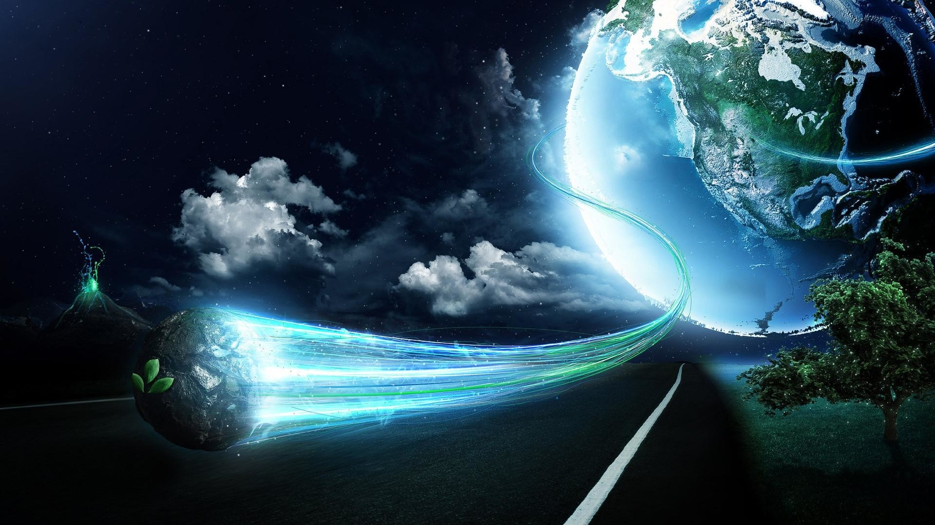 Earth Space Cool Pictures HD Wallpaper.