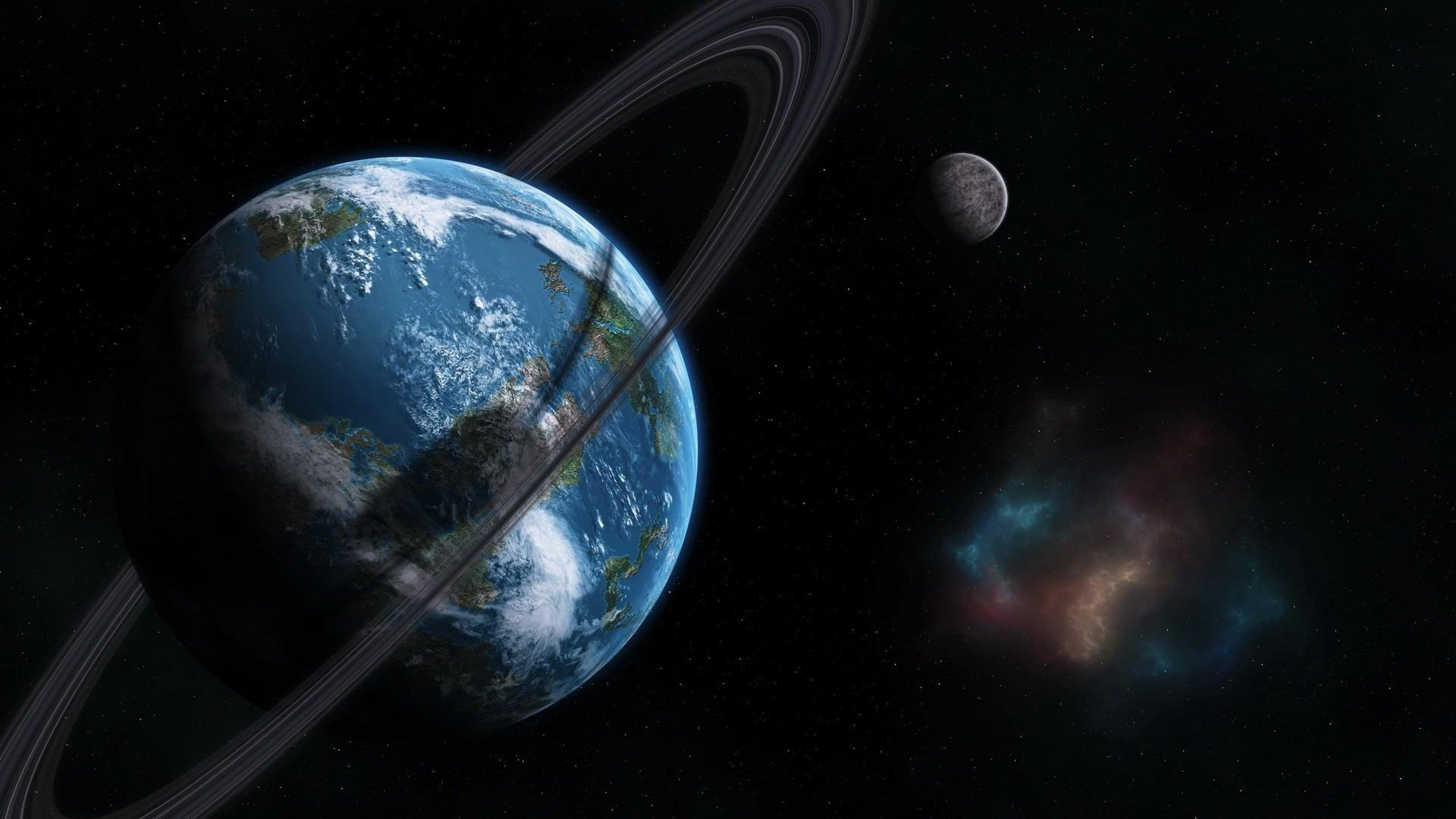earth orbit between earth and space 4k ultra hd wallpaper …
