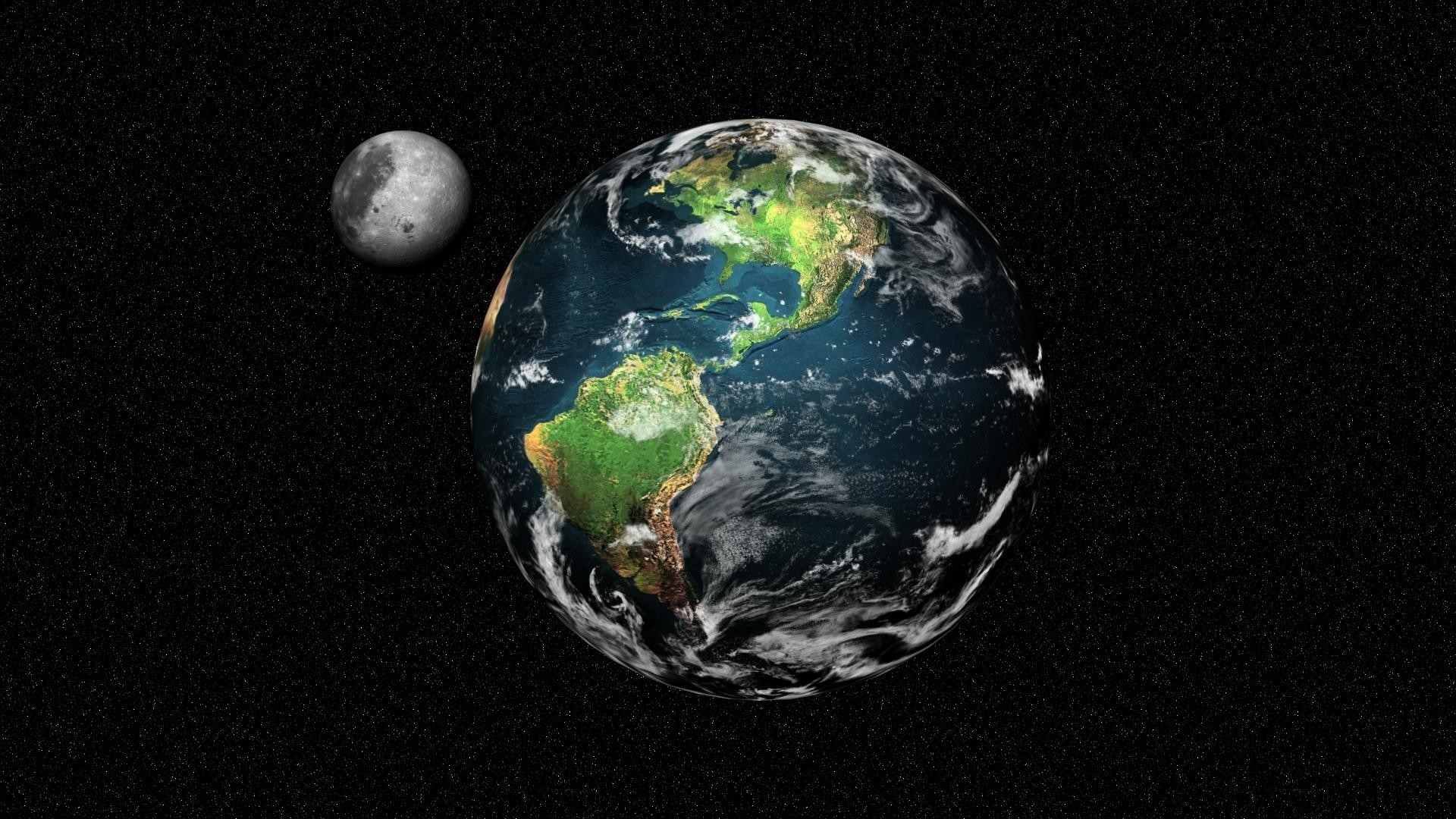 Moon and Earth Wallpapers HD