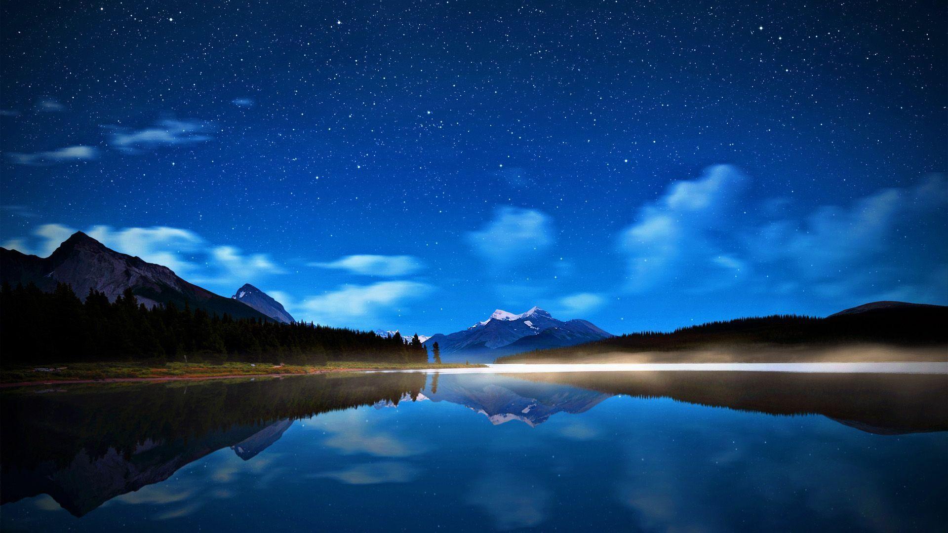 Night Sky Wallpaper HD #5726 | Hdwidescreens.