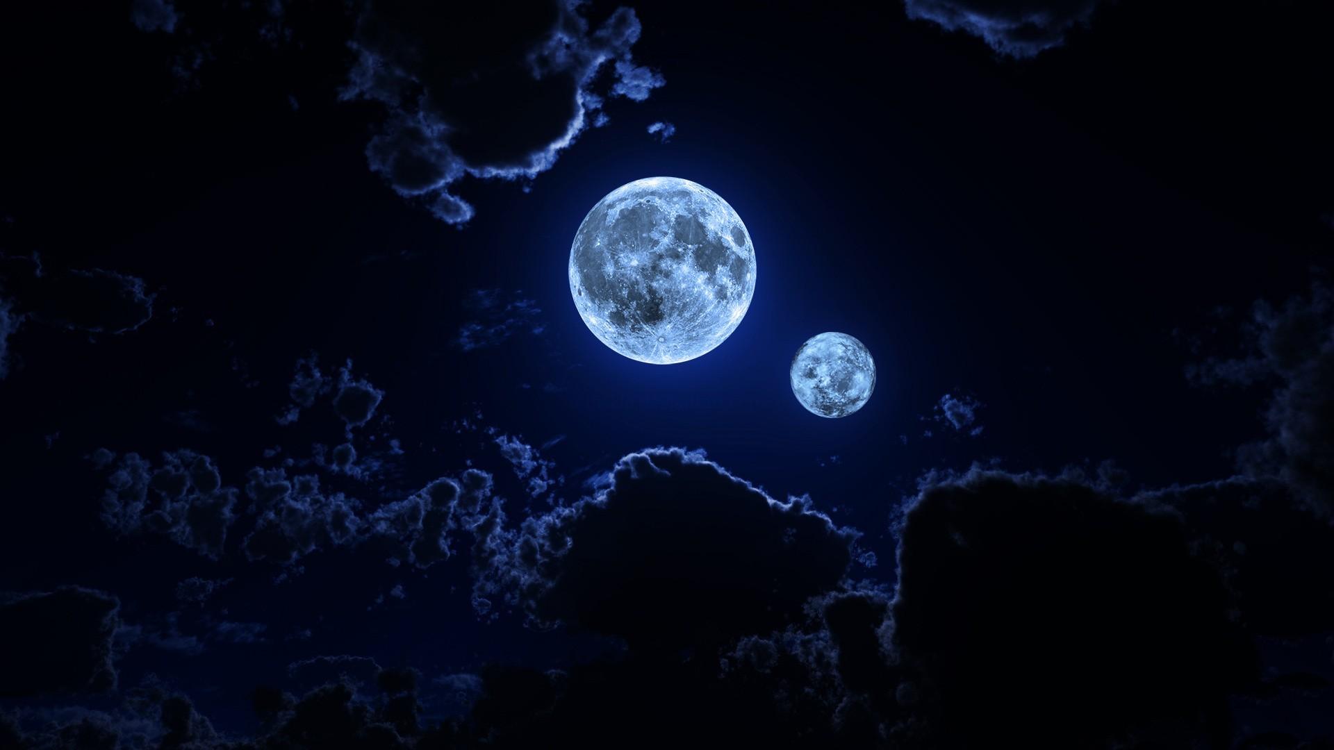 Nature Night Sky Images Cloud Moon Wallpaper Moon Wallpaper