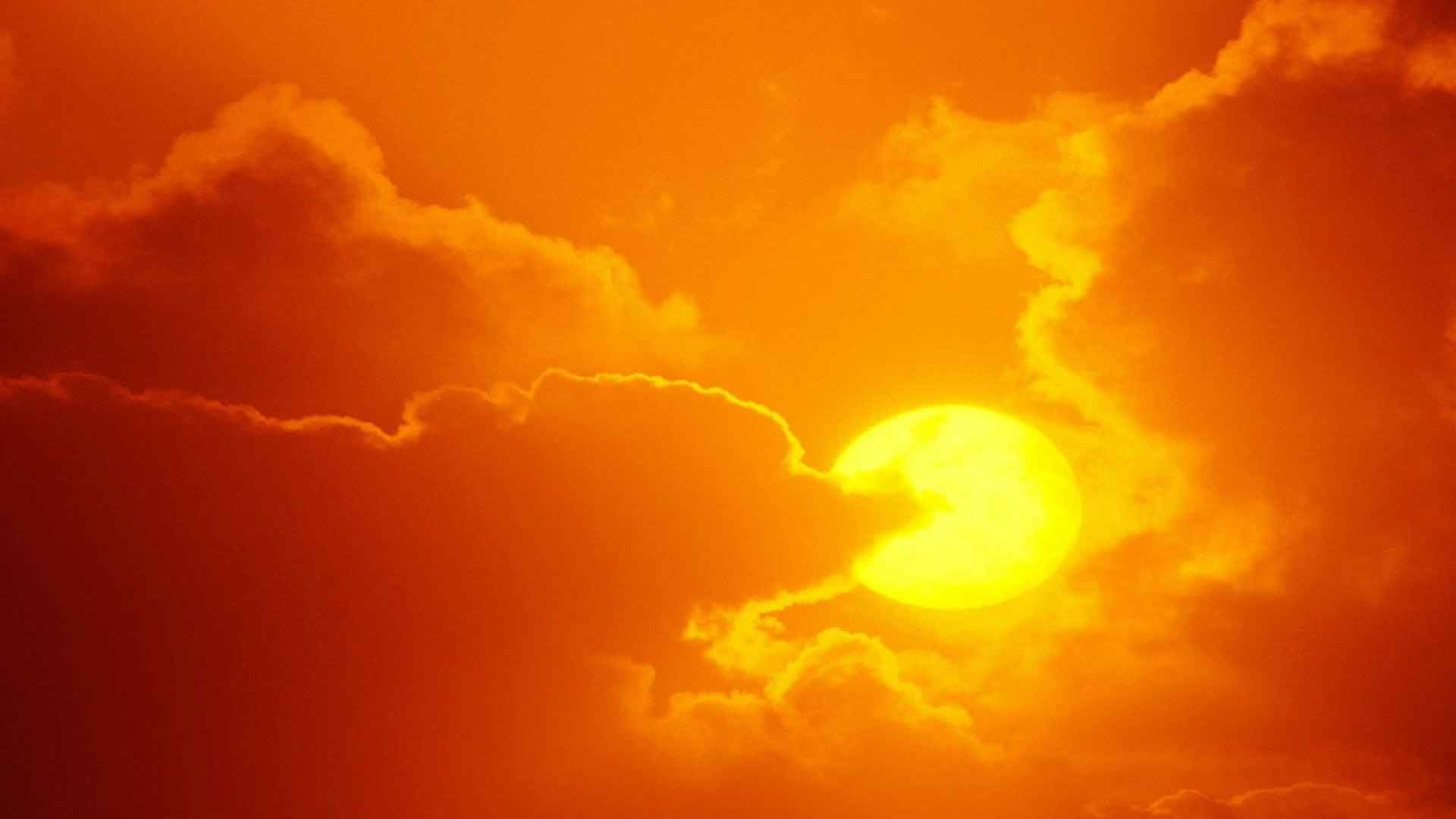 Sky Orange Colors Blue Clouds Nature Sunrise Sunset Sun Wallpaper Photos