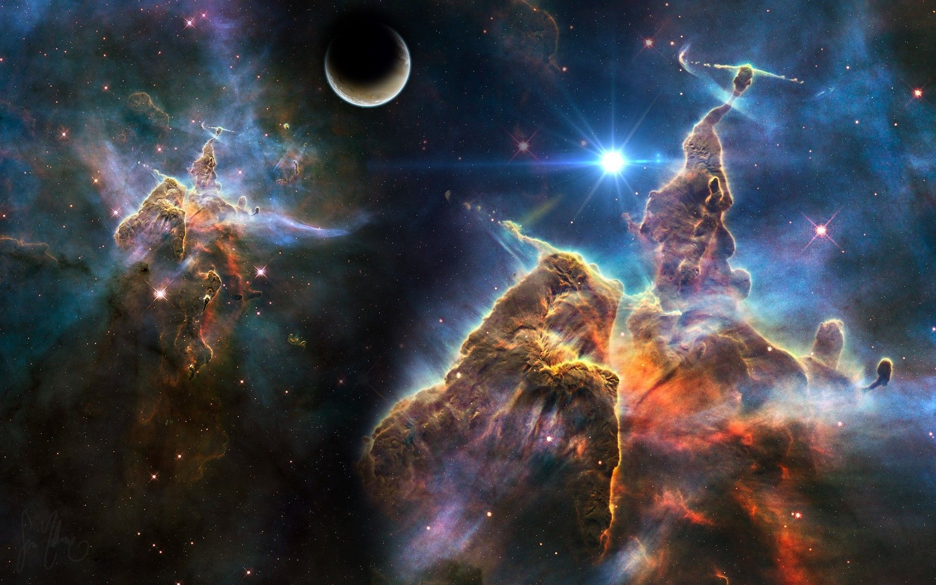 Trippy Space Wallpaper High Definition