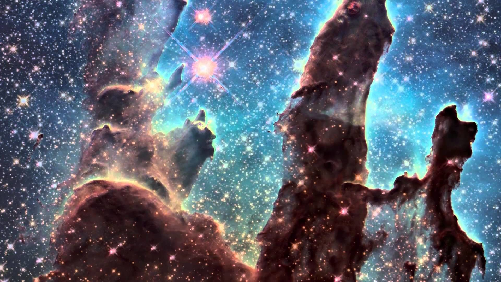 """""""Pillars of Creation"""" iconic image from Hubble 2015 – YouTube"""