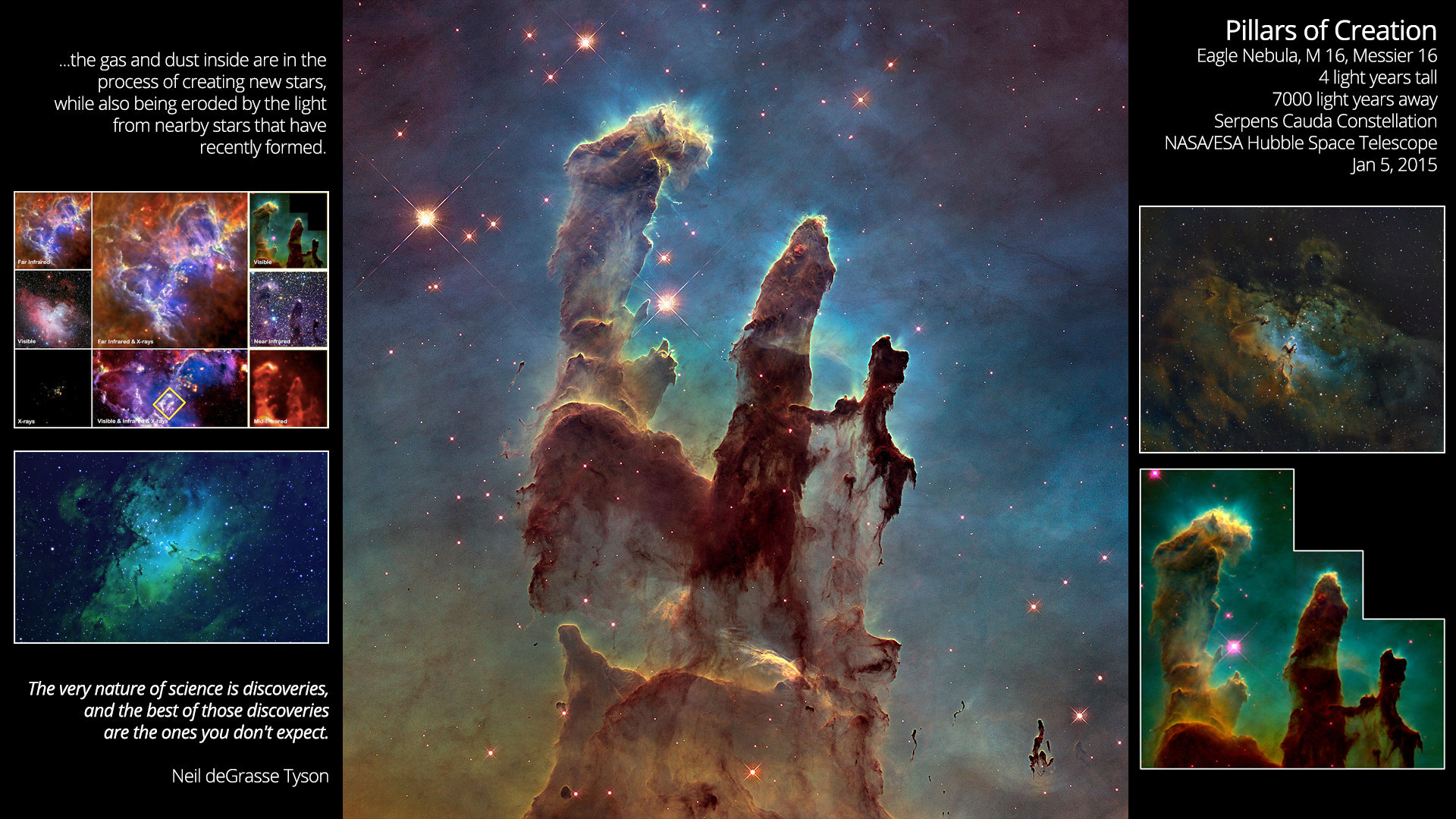 I made a wallpaper with the new photo of the Pillars of Creation (2014).