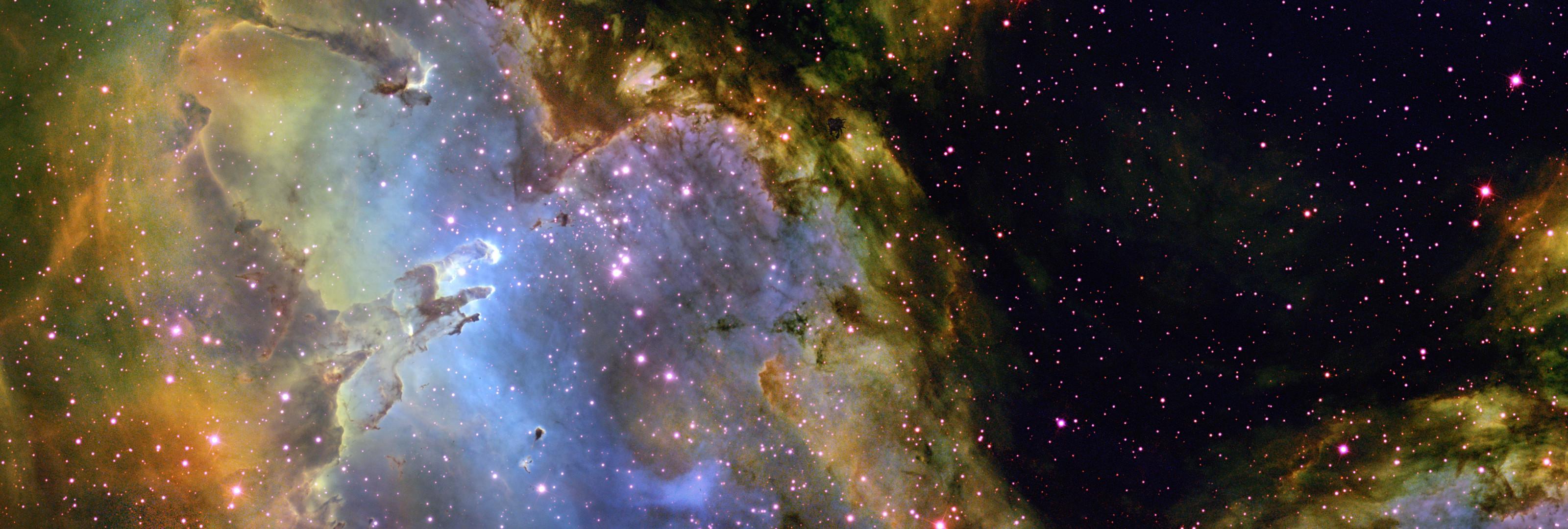 … adamantpieeater Eagle Nebula Wallpaper 3200 X 1080 by adamantpieeater